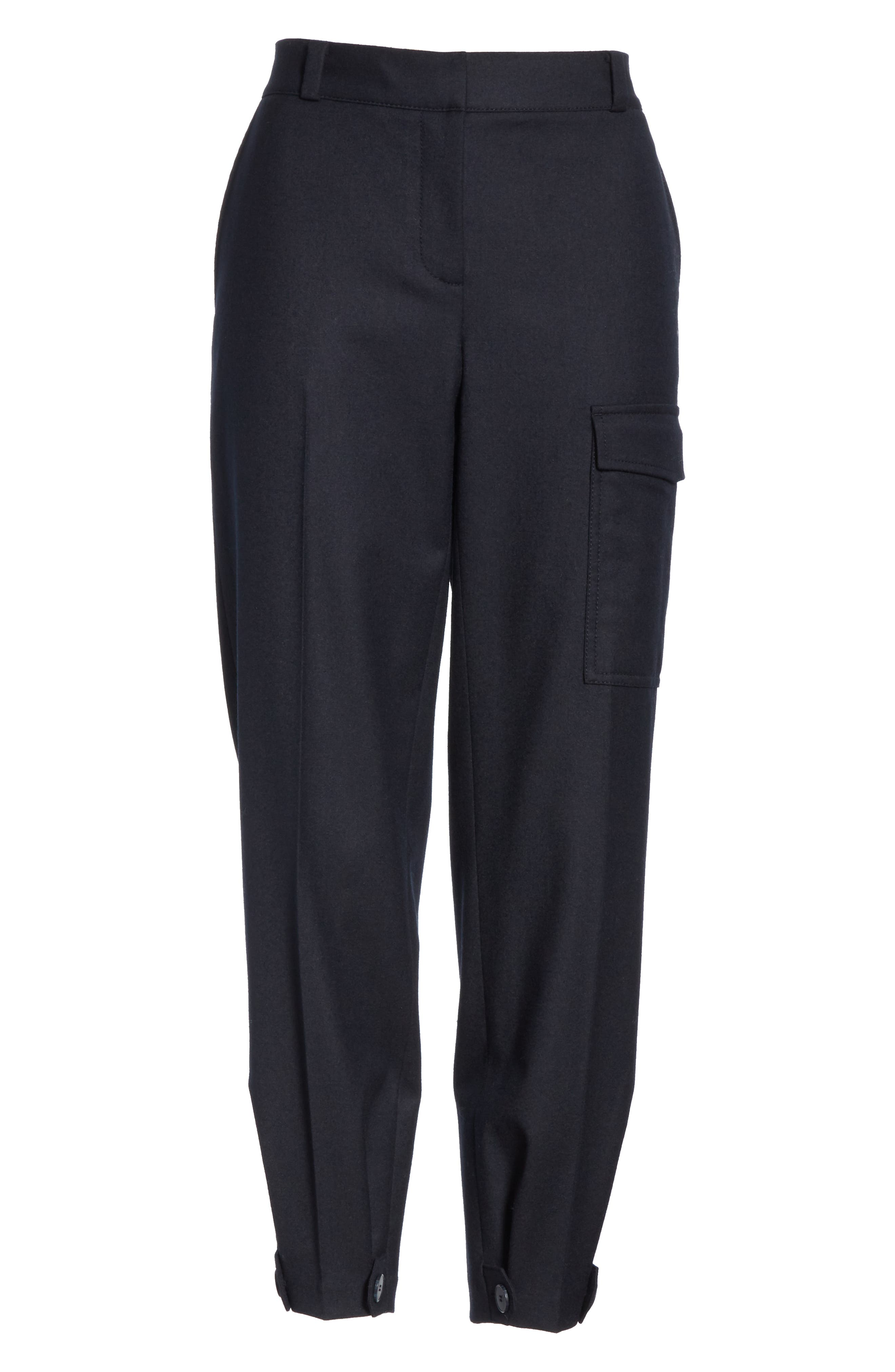 Wool Blend Flannel Button Cuff Pants,                             Alternate thumbnail 6, color,                             410