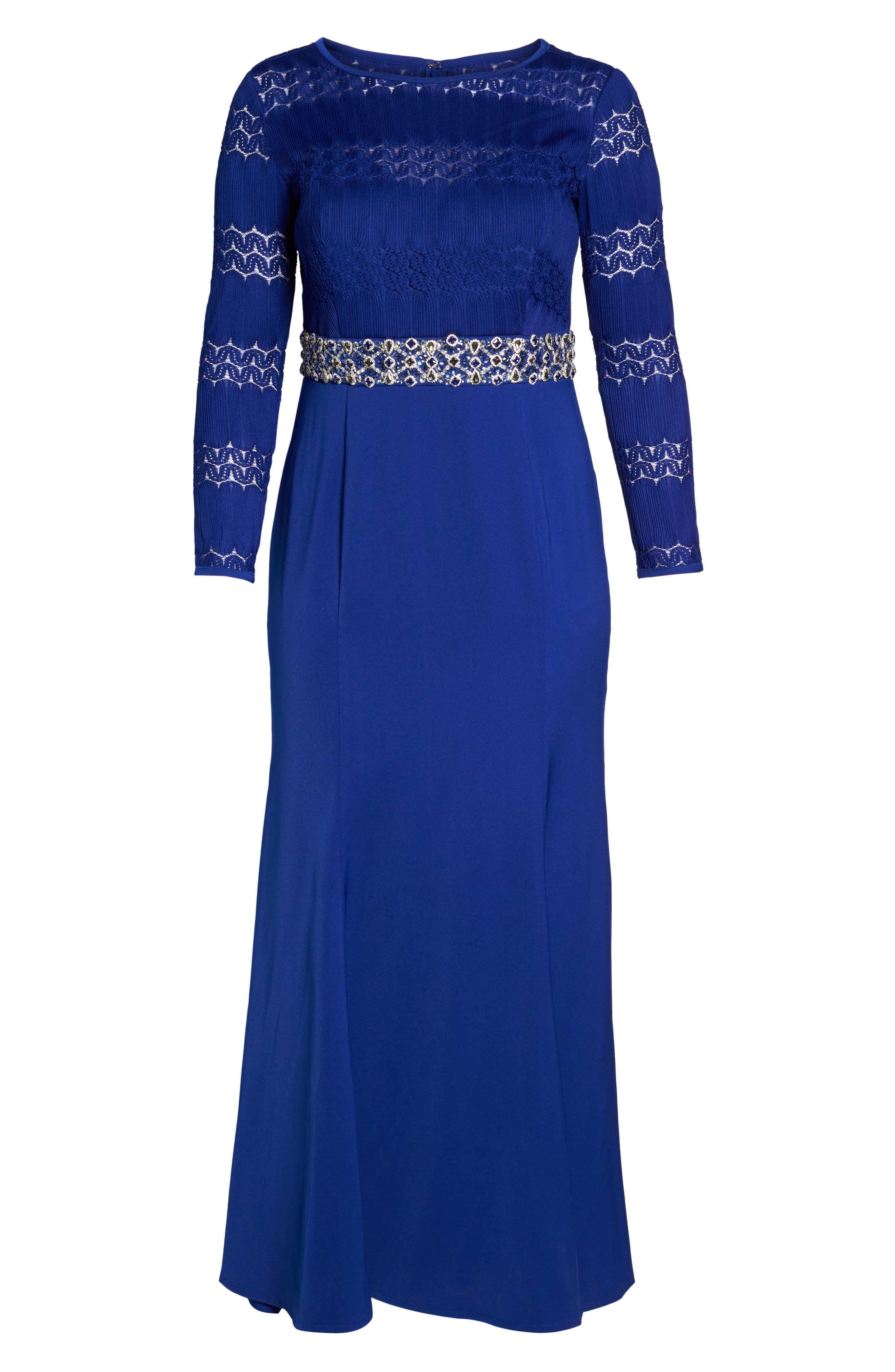 Embellished Gown,                             Alternate thumbnail 6, color,                             ROYAL