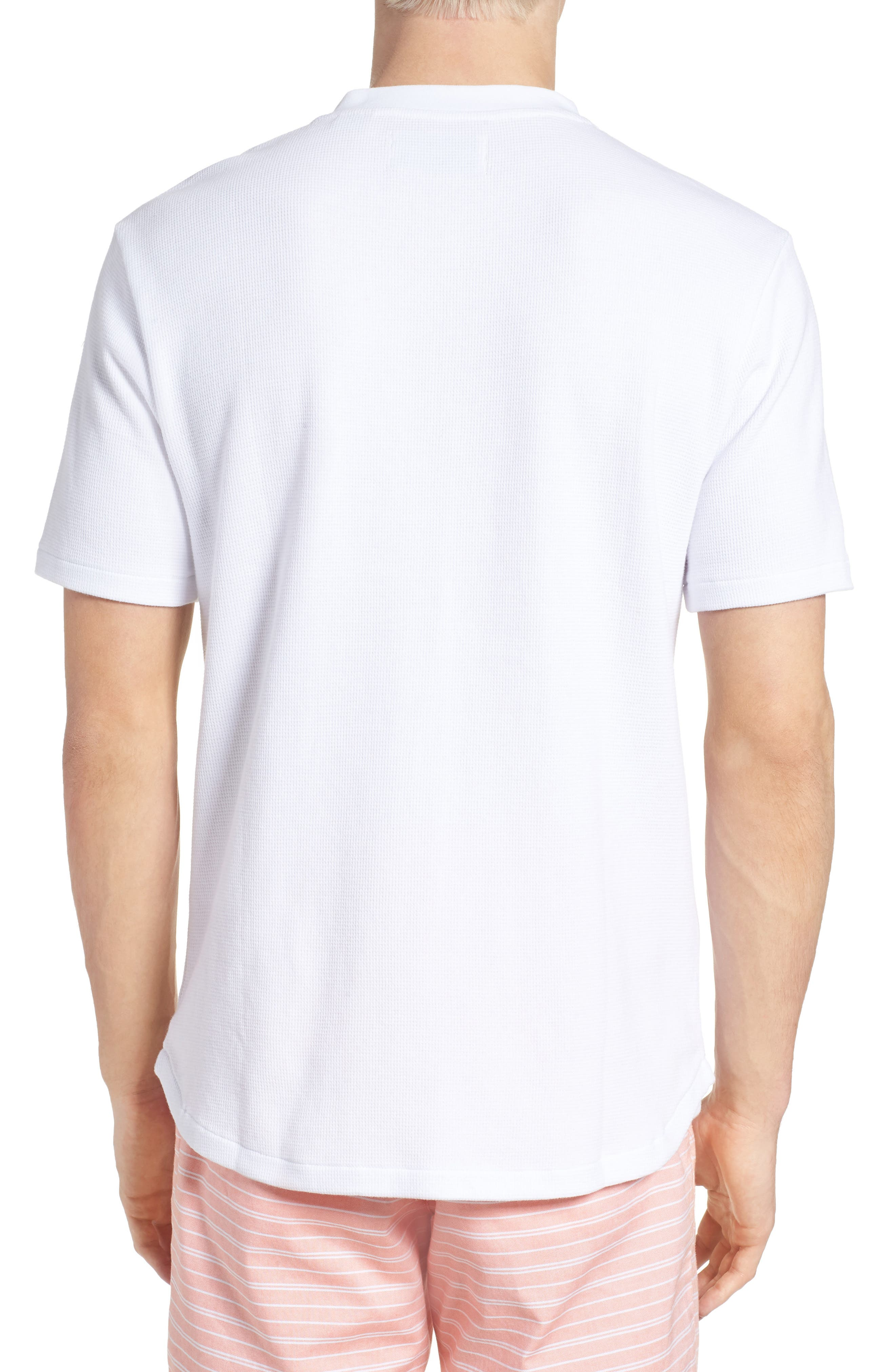 Waffle Knit Henley,                             Alternate thumbnail 2, color,                             BRIGHT WHITE