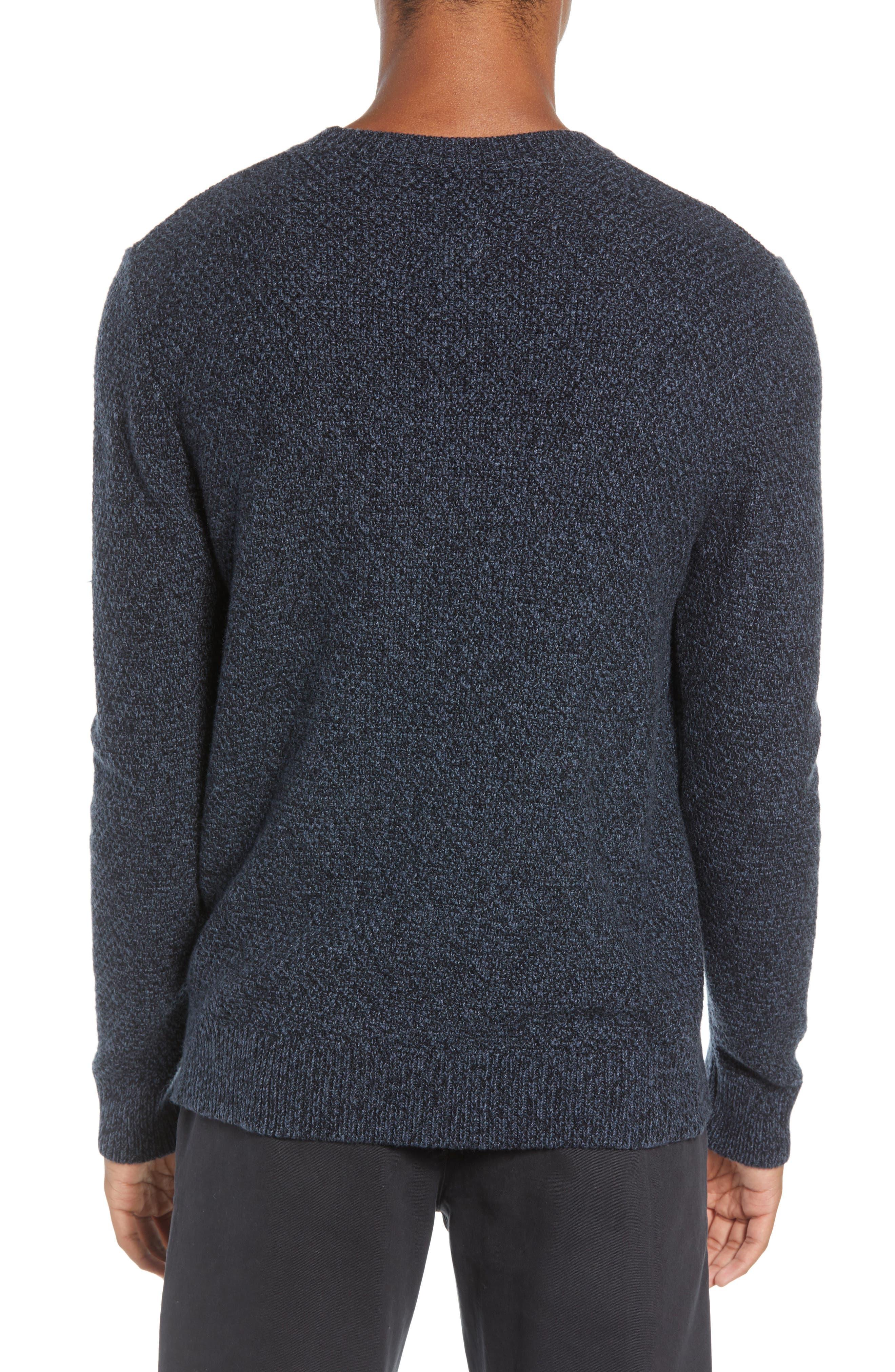 Montreal Slim Fit Crewneck Sweater,                             Alternate thumbnail 2, color,                             NAVY