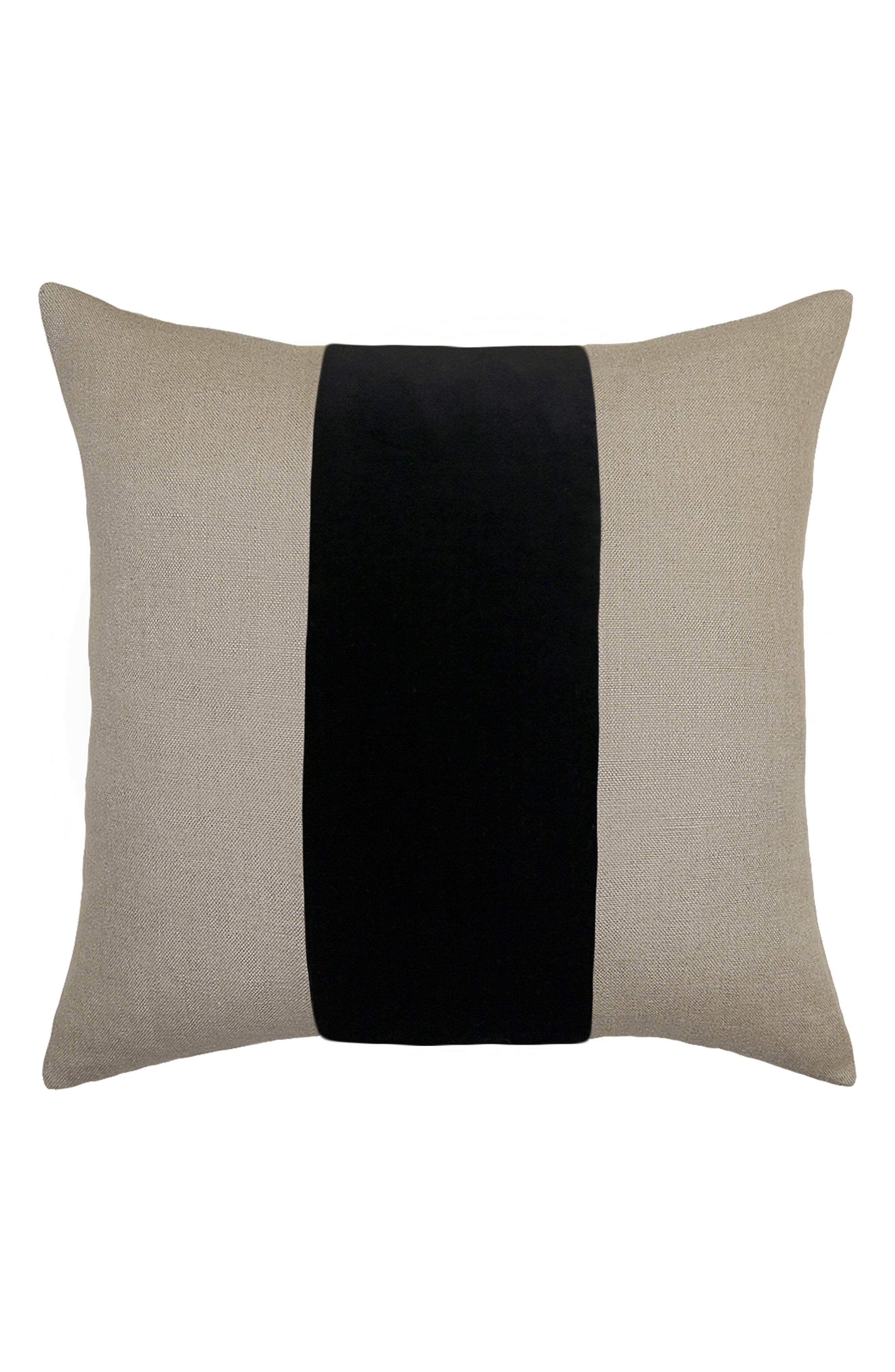 SQUARE FEATHERS,                             Ming Birch Accent Pillow,                             Main thumbnail 1, color,                             BLACK
