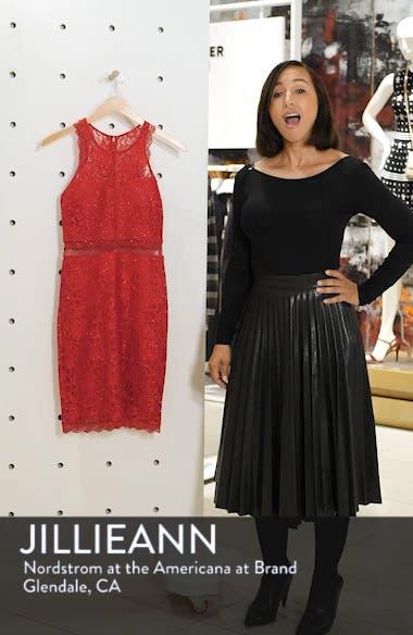 Sleeveless Glitter Lace Sheath Dress, sales video thumbnail