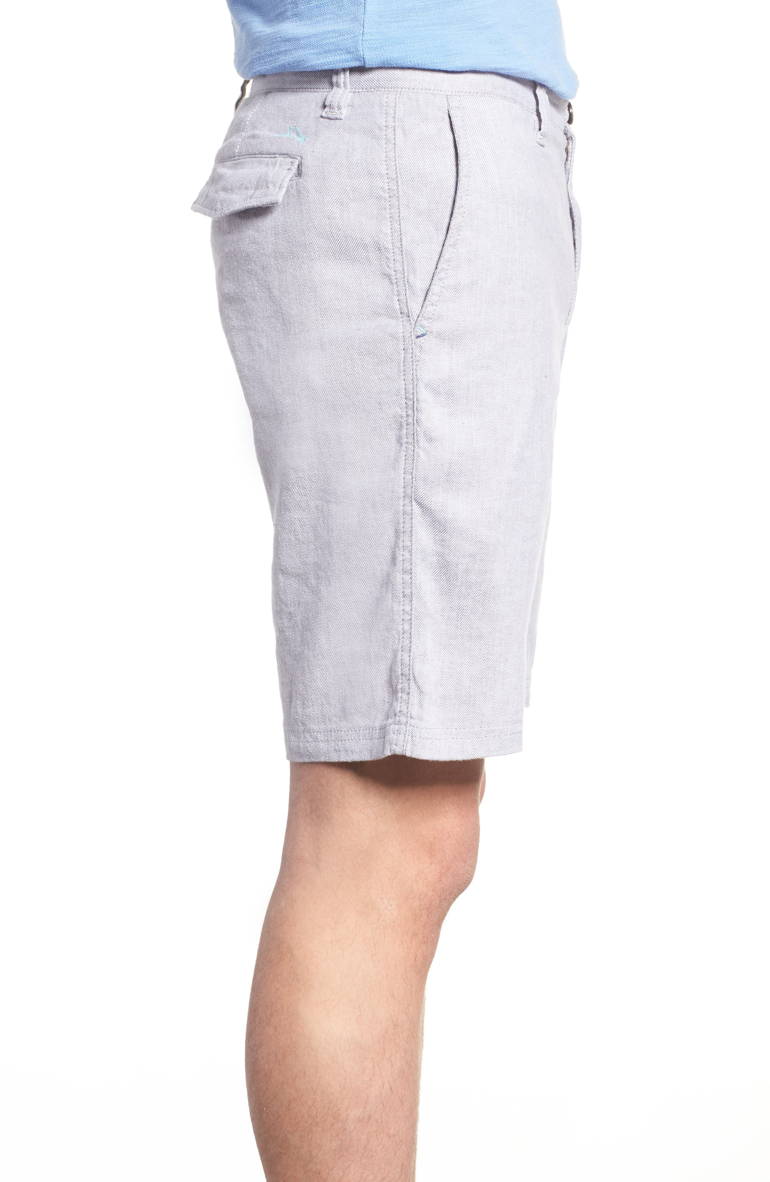 Beach Linen Blend Shorts,                             Alternate thumbnail 3, color,                             050