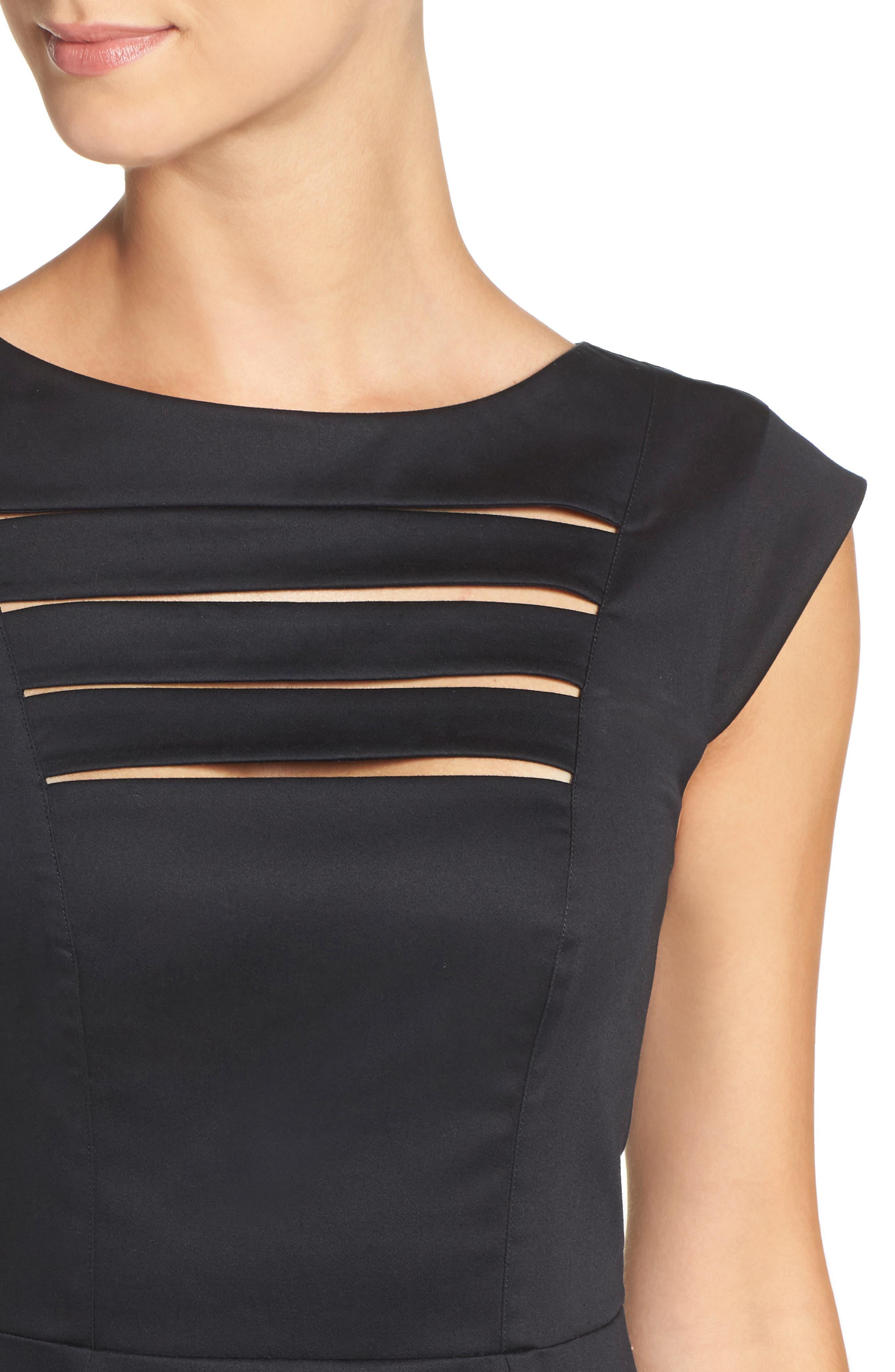'Estelle' Cutout Cotton Blend Sheath Dress,                             Alternate thumbnail 8, color,