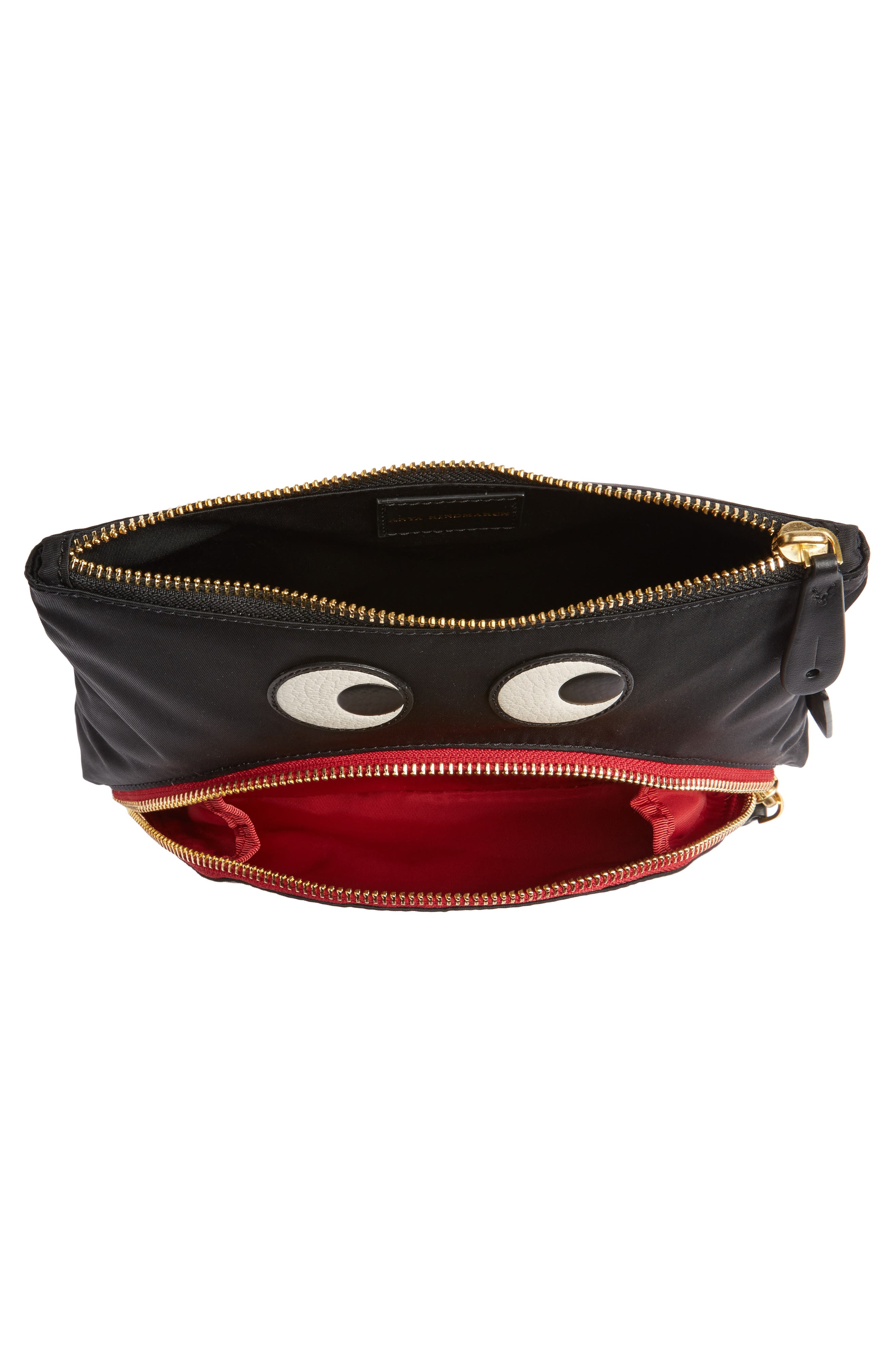 Happy Eyes Nylon Pouch,                             Alternate thumbnail 4, color,                             001