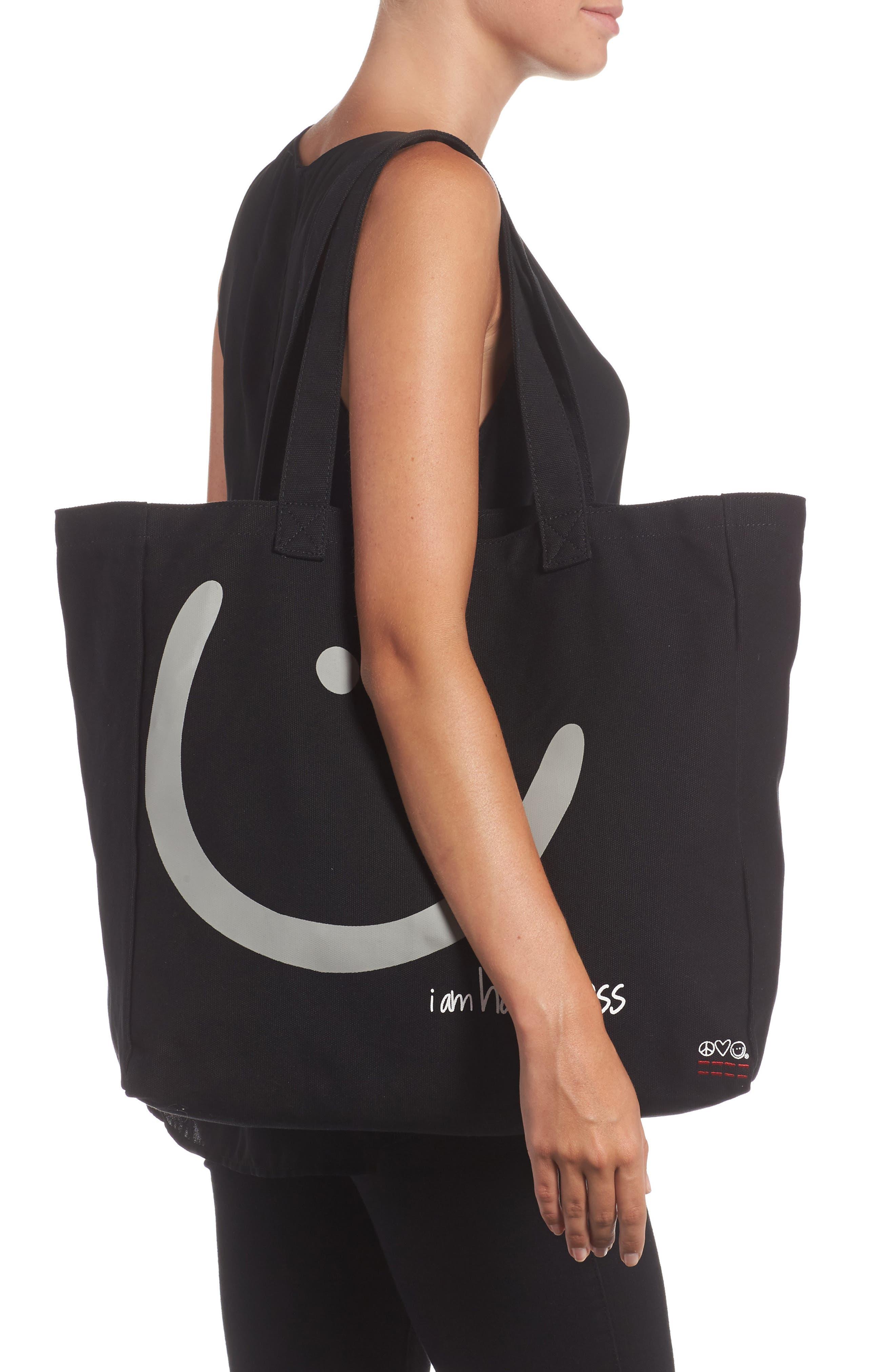 Oversized Canvas Tote,                             Alternate thumbnail 4, color,