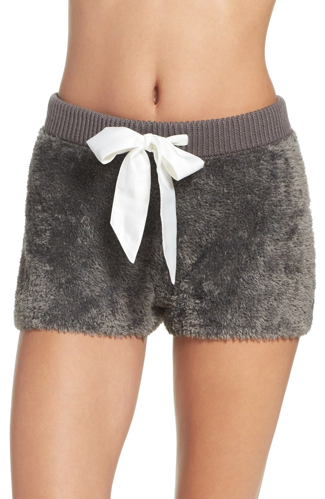 Fuzzy Lounge Shorts,                             Main thumbnail 1, color,