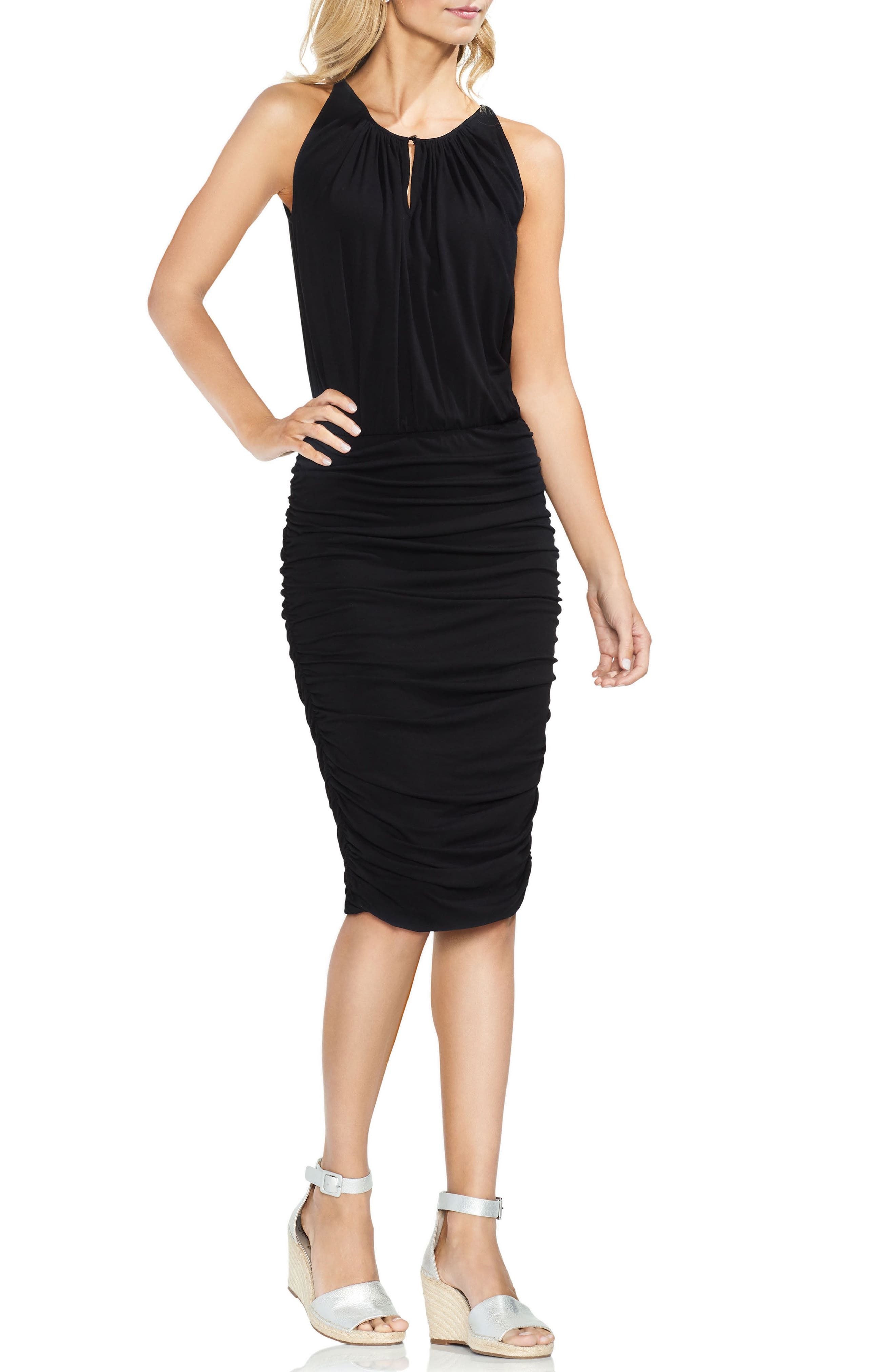 Ruched Keyhole Dress,                         Main,                         color,