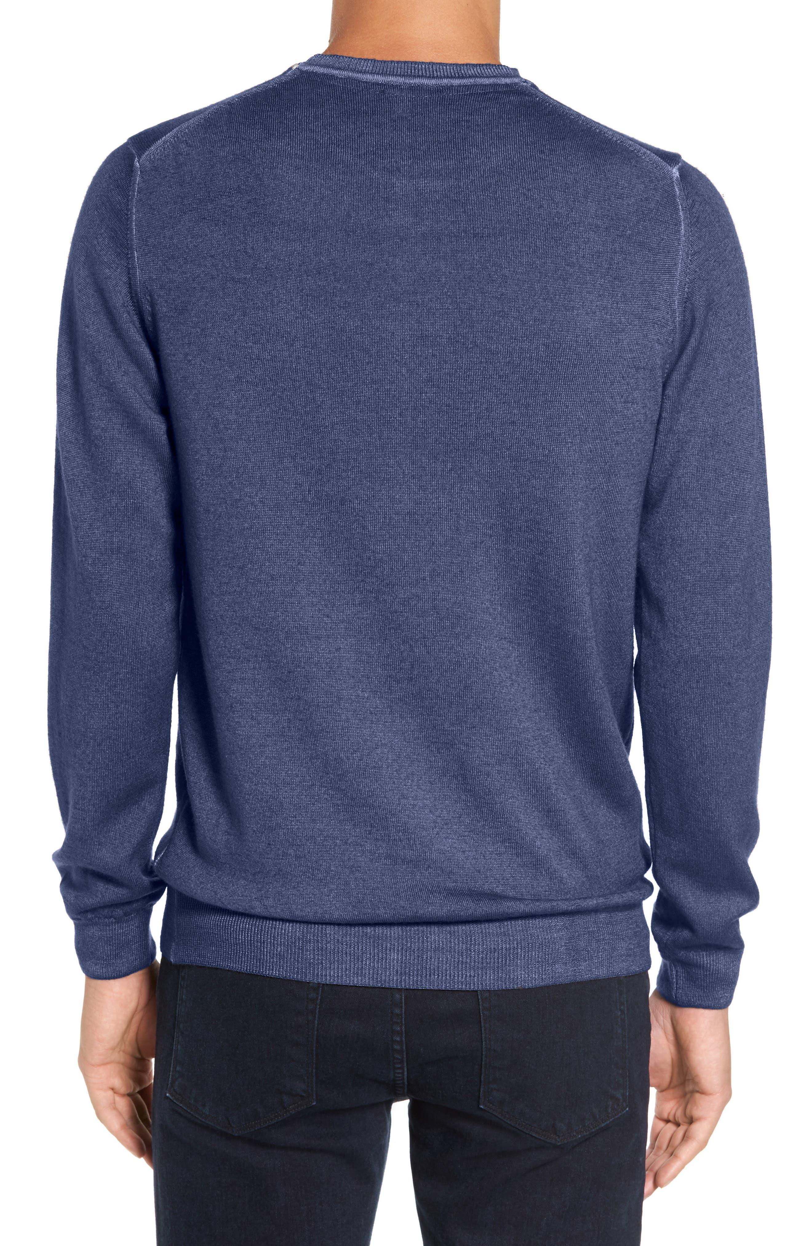 V-Neck Merino Wool Sweater,                             Alternate thumbnail 5, color,