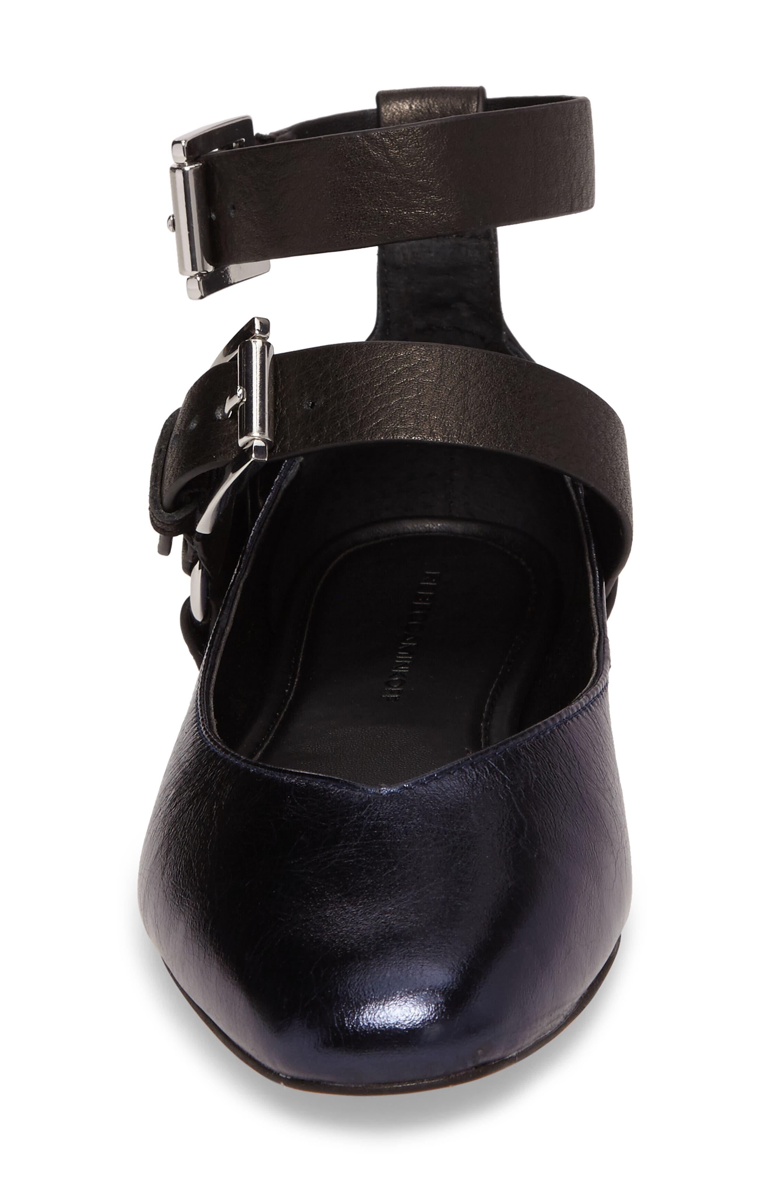 Vivica Ankle Strap Flat,                             Alternate thumbnail 4, color,                             001