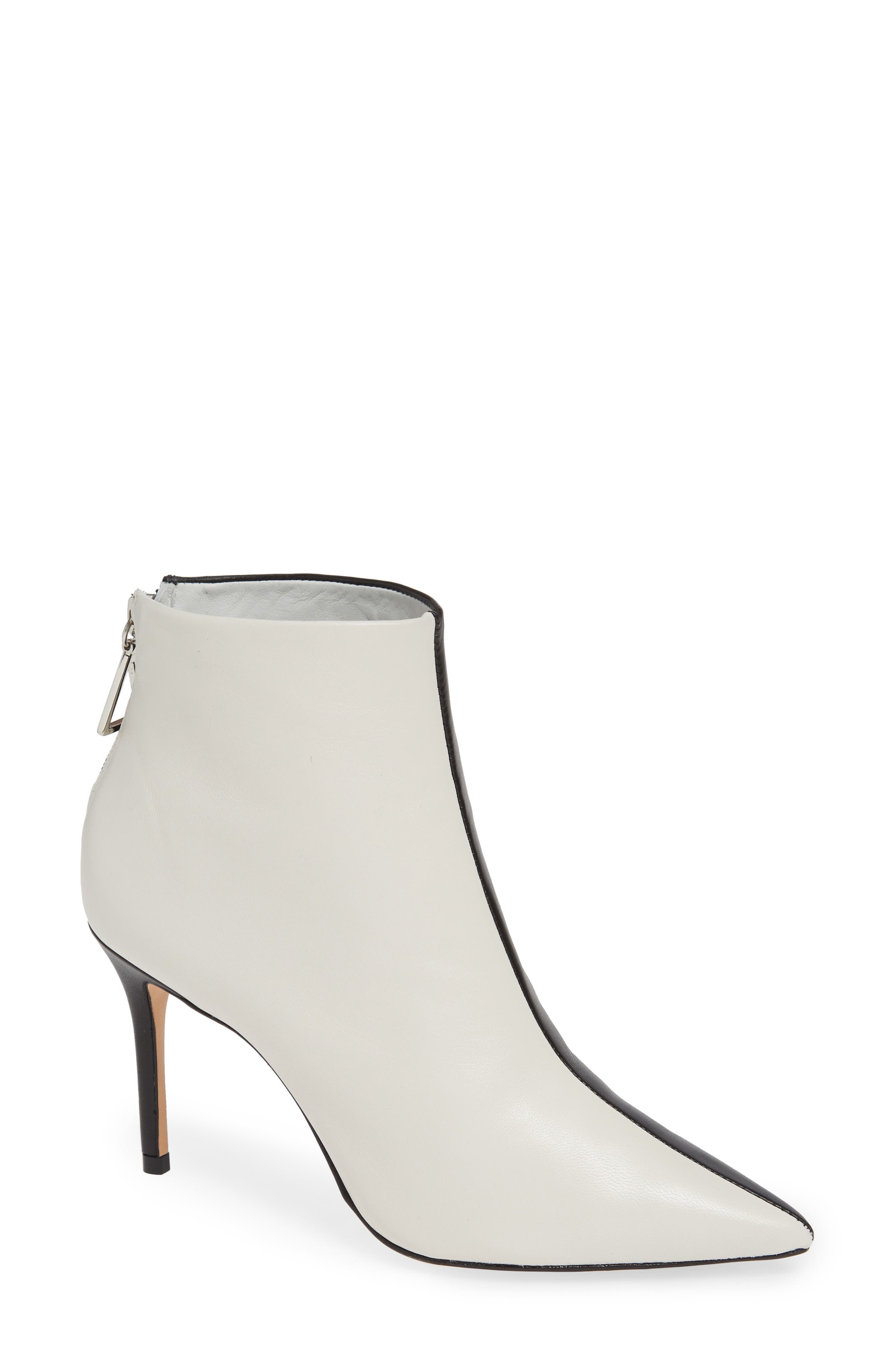 Avory Bootie,                         Main,                         color, BLACK/ WHITE