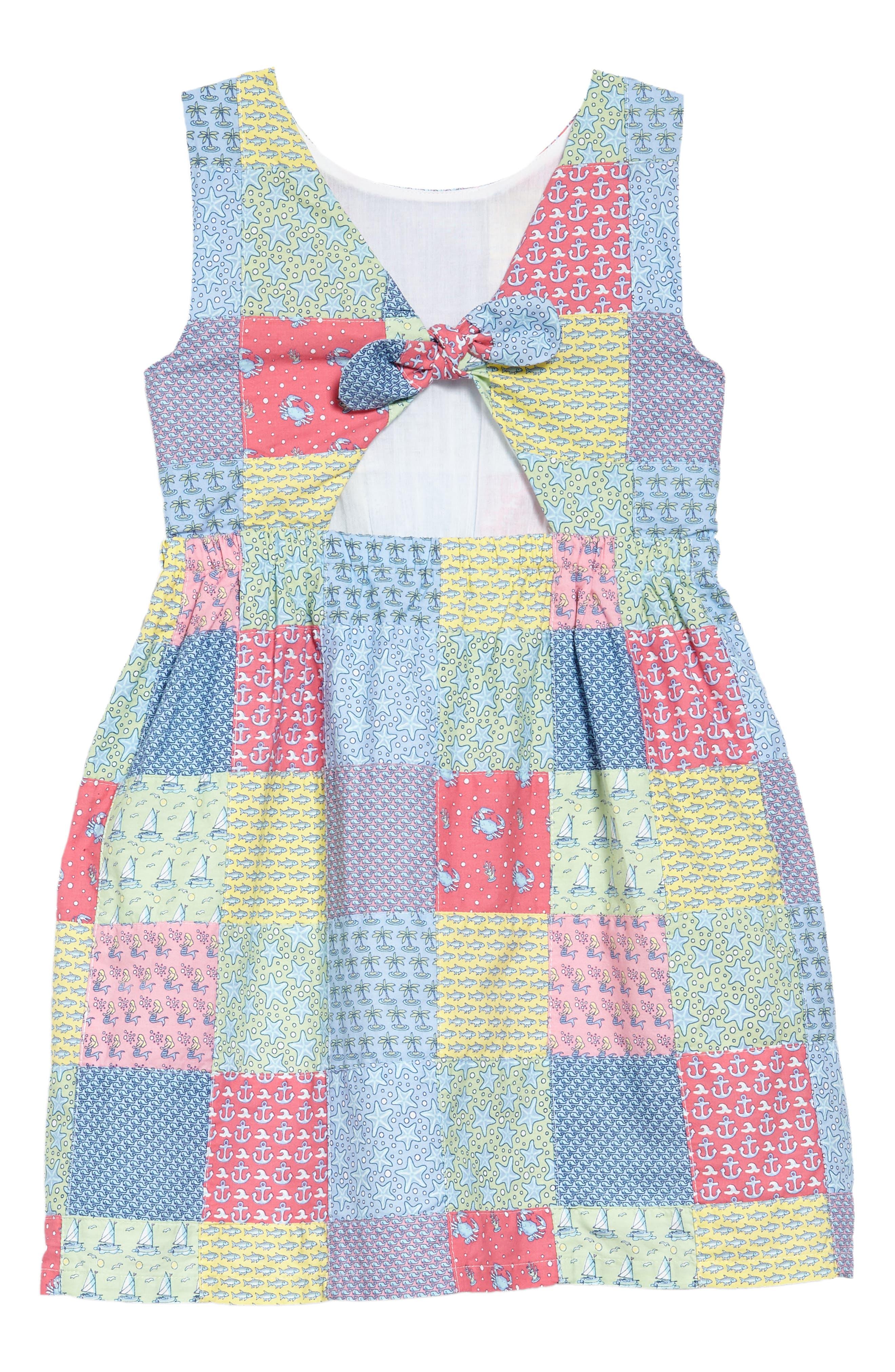 Patchwork Tie Dress,                             Alternate thumbnail 2, color,                             609