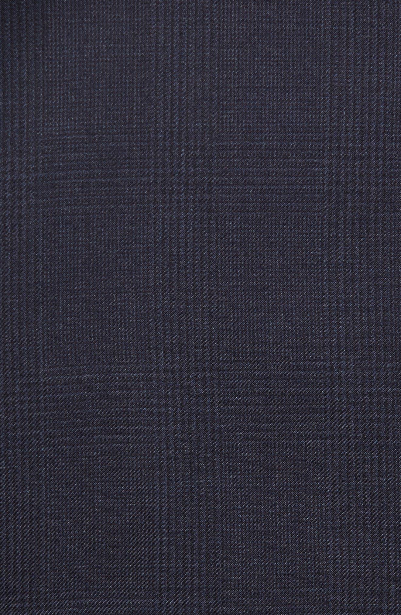Flynn Classic Fit Plaid Wool Suit,                             Alternate thumbnail 7, color,                             410