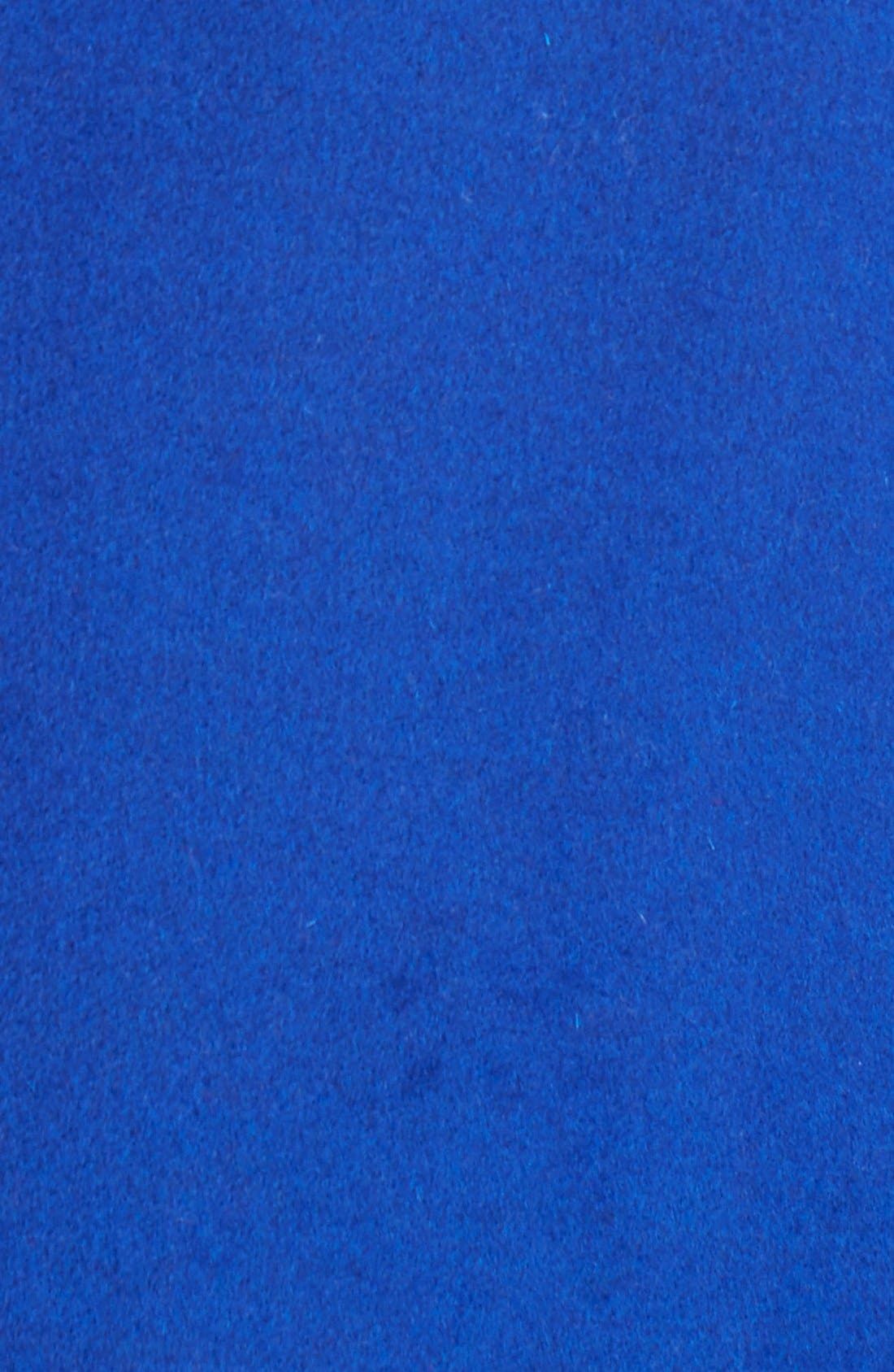 Notch Collar Wool Blend Coat,                             Alternate thumbnail 3, color,                             COBALT