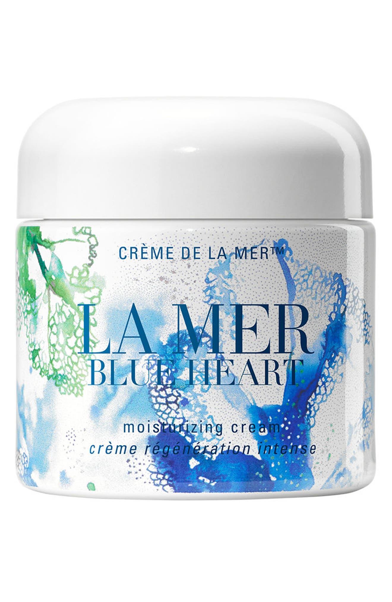 LA MER,                             Blue Heart Crème de La Mer Moisturizing Cream,                             Main thumbnail 1, color,                             000