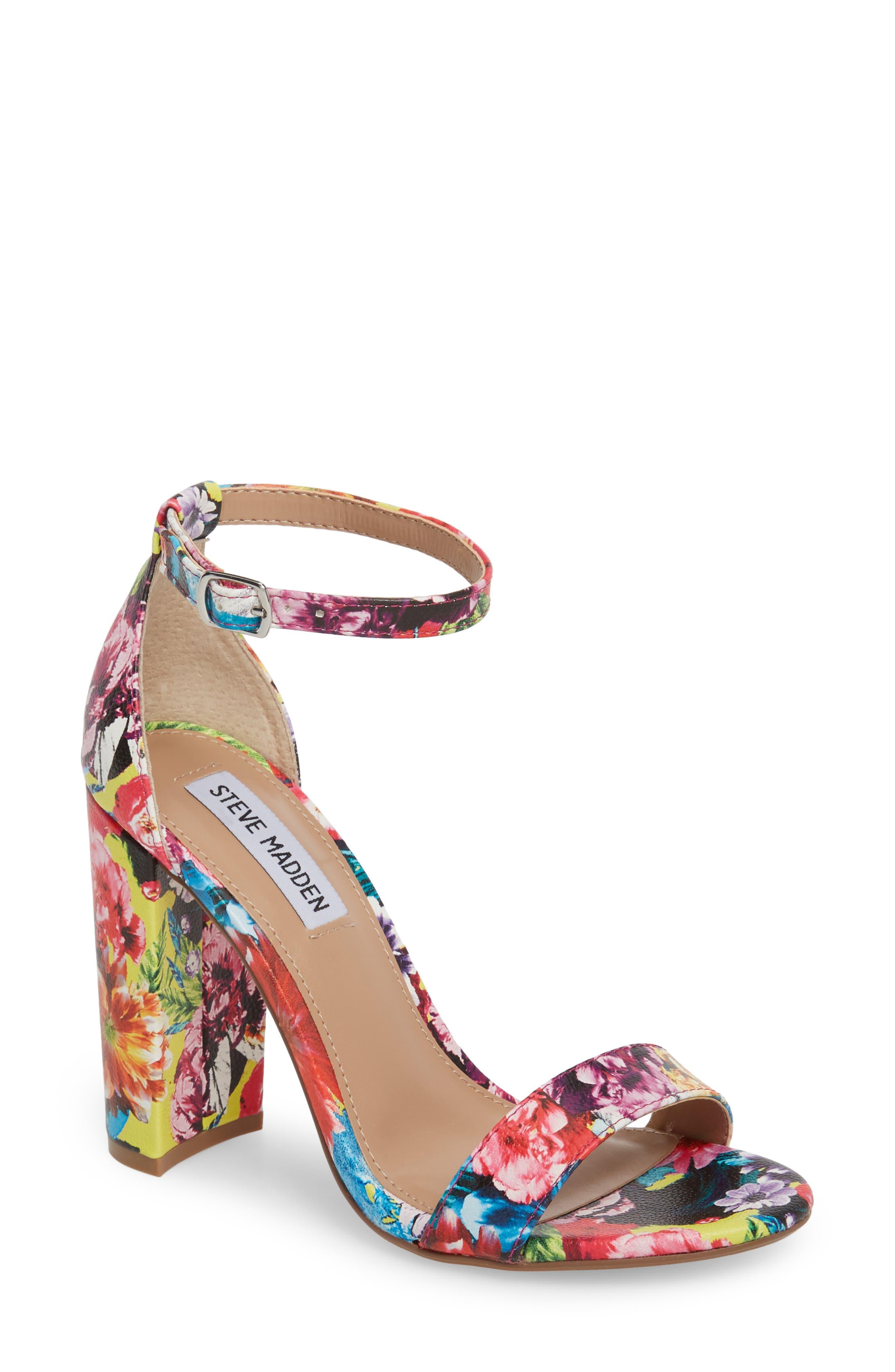 Carrson Sandal,                         Main,                         color, FLOWER MULTI