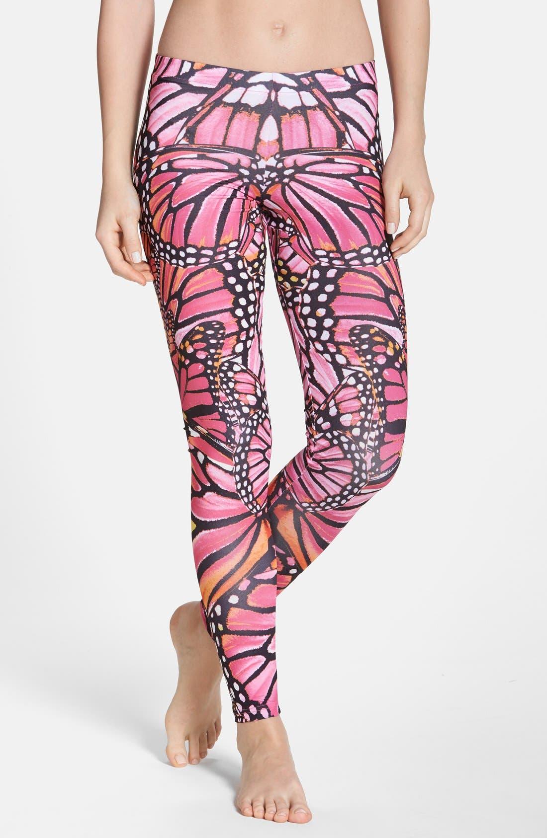 Butterfly Print Leggings, Main, color, 997