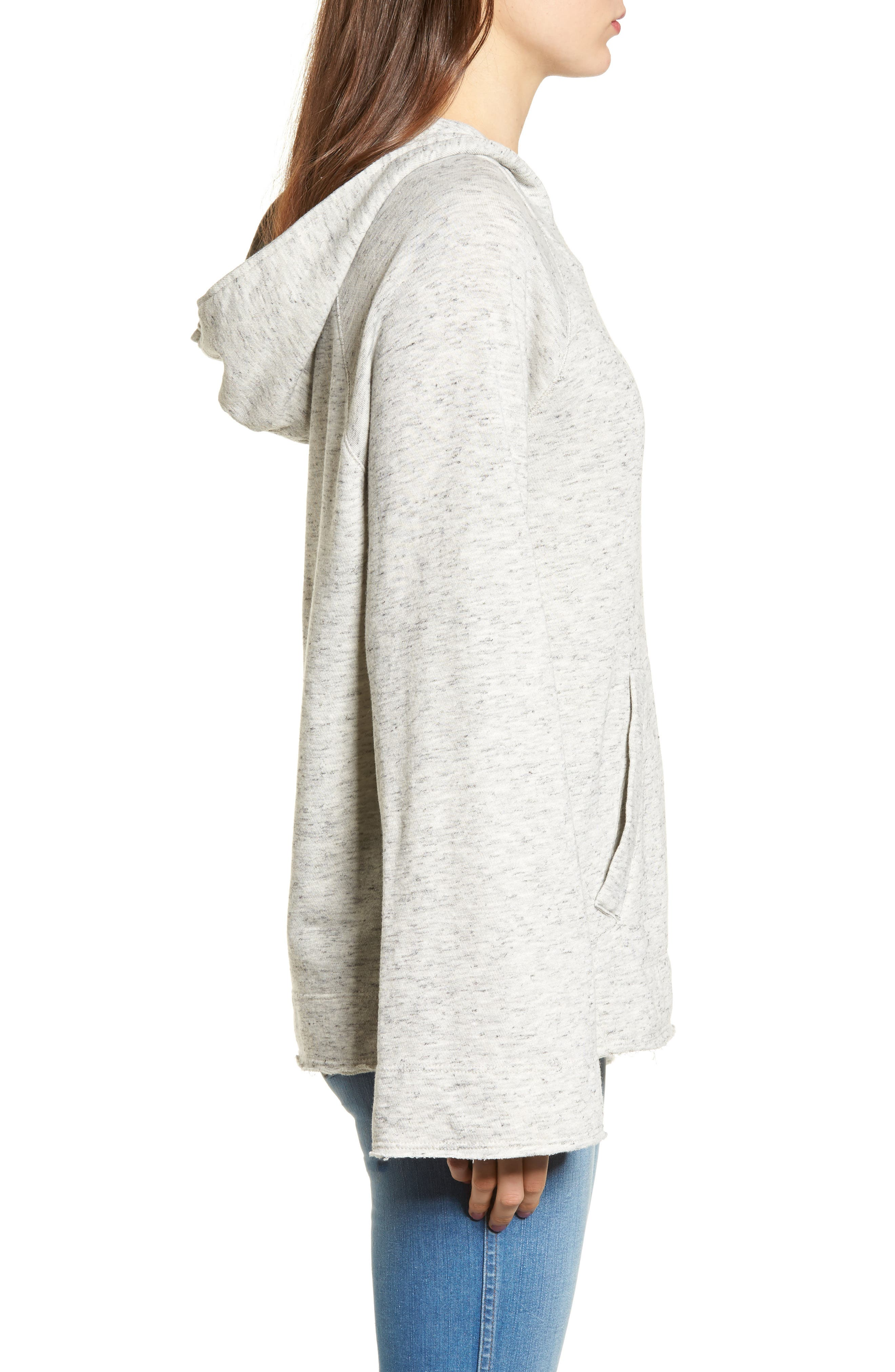 Sidelight Cowl Neck Hoodie,                             Alternate thumbnail 3, color,                             020