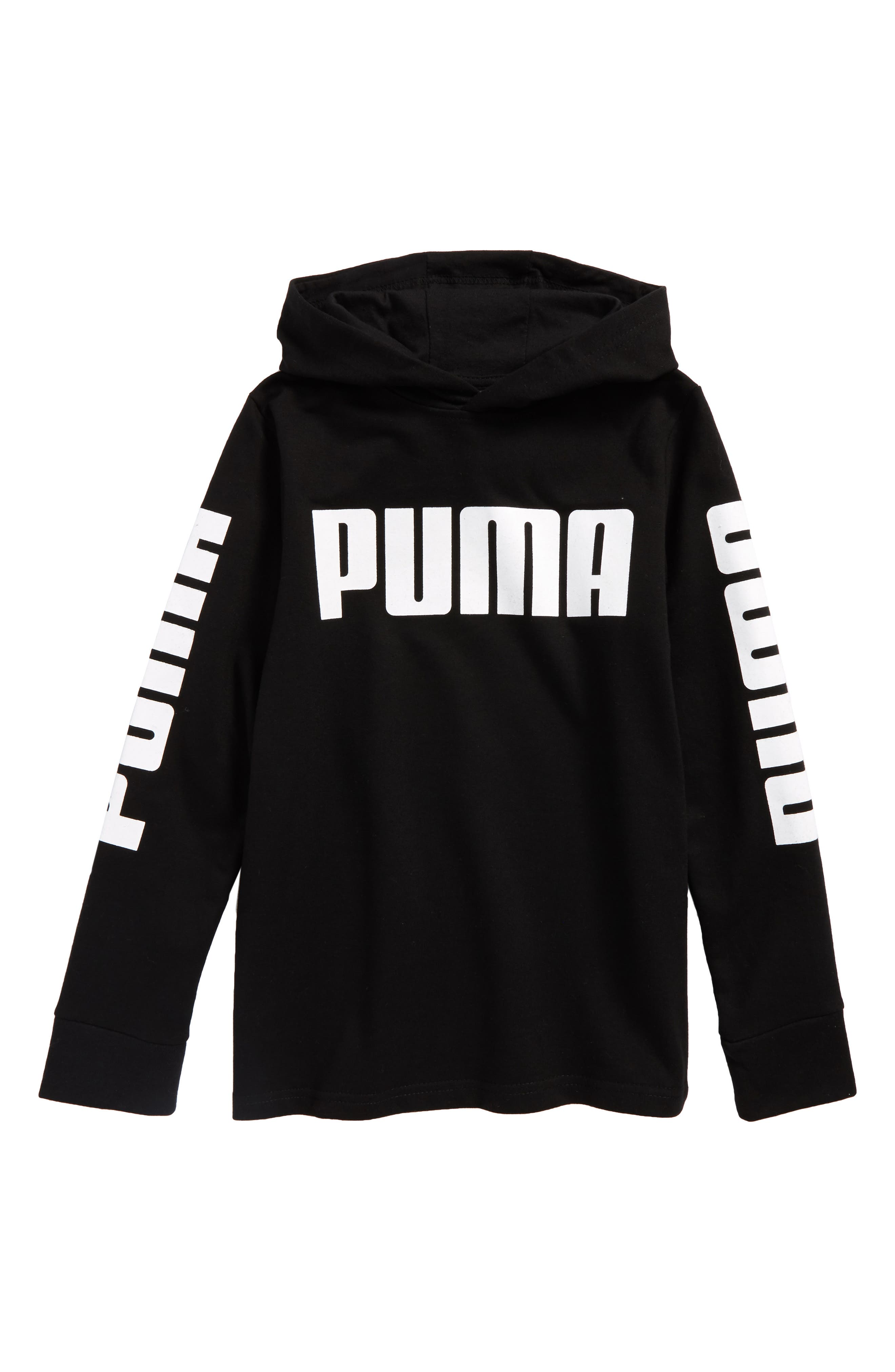 Rebel Logo Graphic Pullover Hoodie,                             Main thumbnail 1, color,