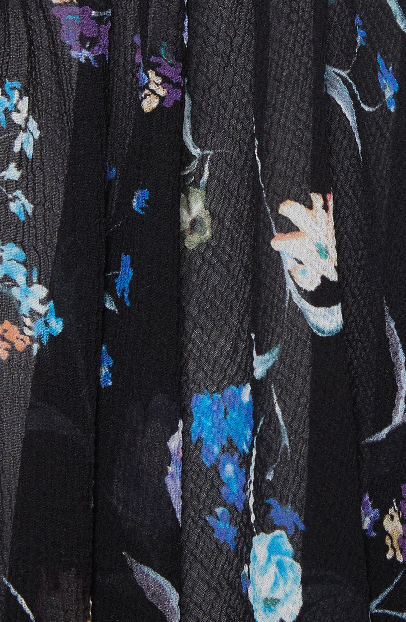 Ruffle Floral Silk Tank,                             Alternate thumbnail 5, color,