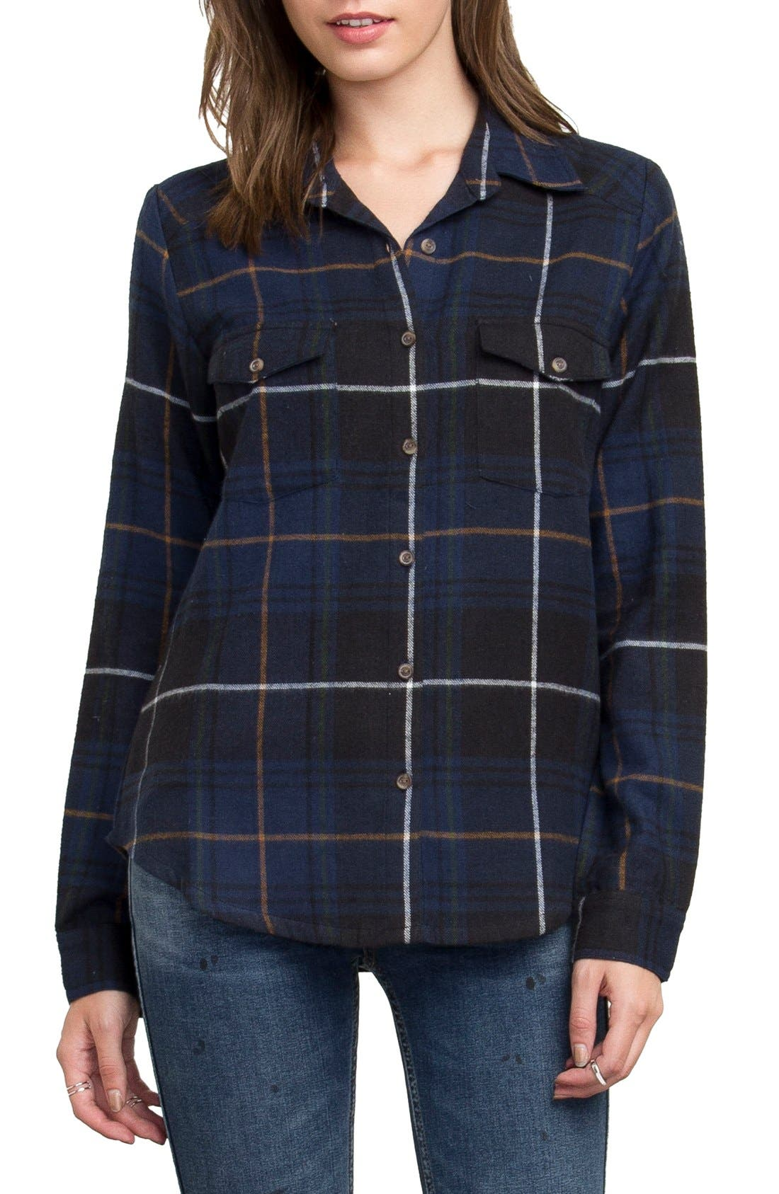 Plaid Flannel Shirt,                             Main thumbnail 6, color,