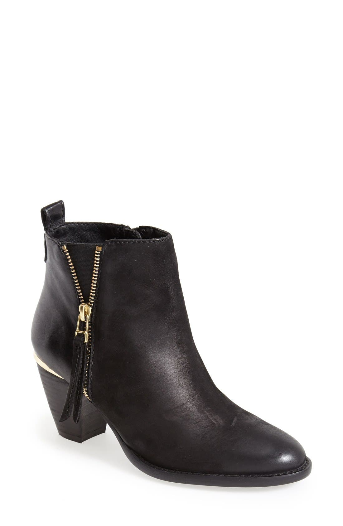 'Wantagh' Leather Ankle Boot,                             Main thumbnail 1, color,                             001