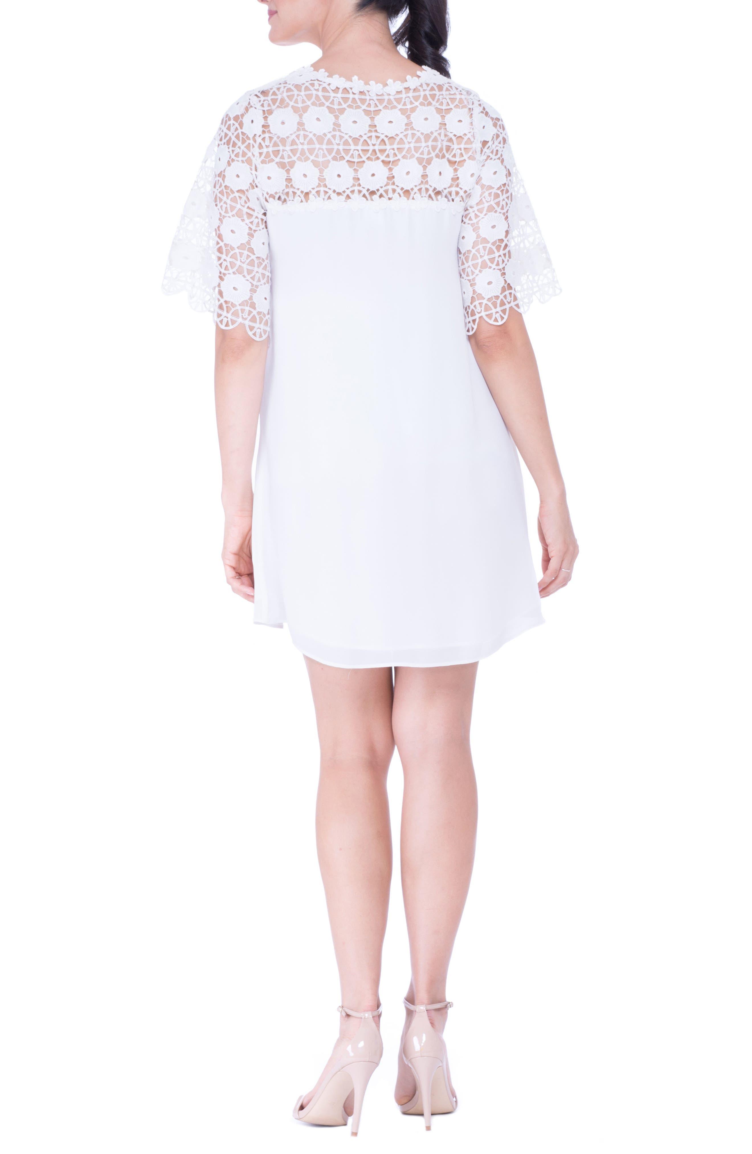 Lace Yoke Maternity Dress,                             Alternate thumbnail 3, color,