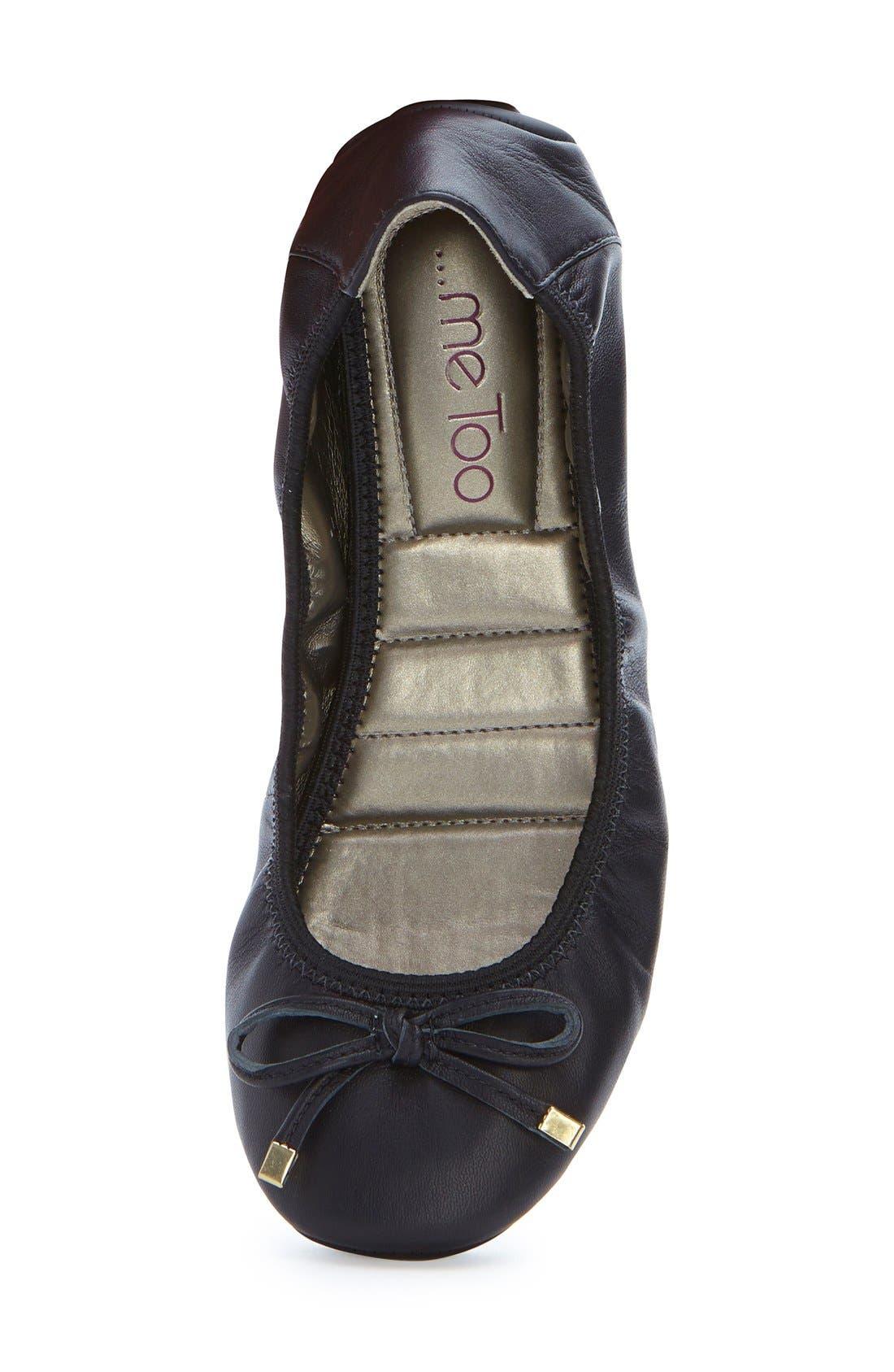 'Halle 2.0' Ballet Flat,                             Alternate thumbnail 2, color,                             BLACK NAPPA LEATHER