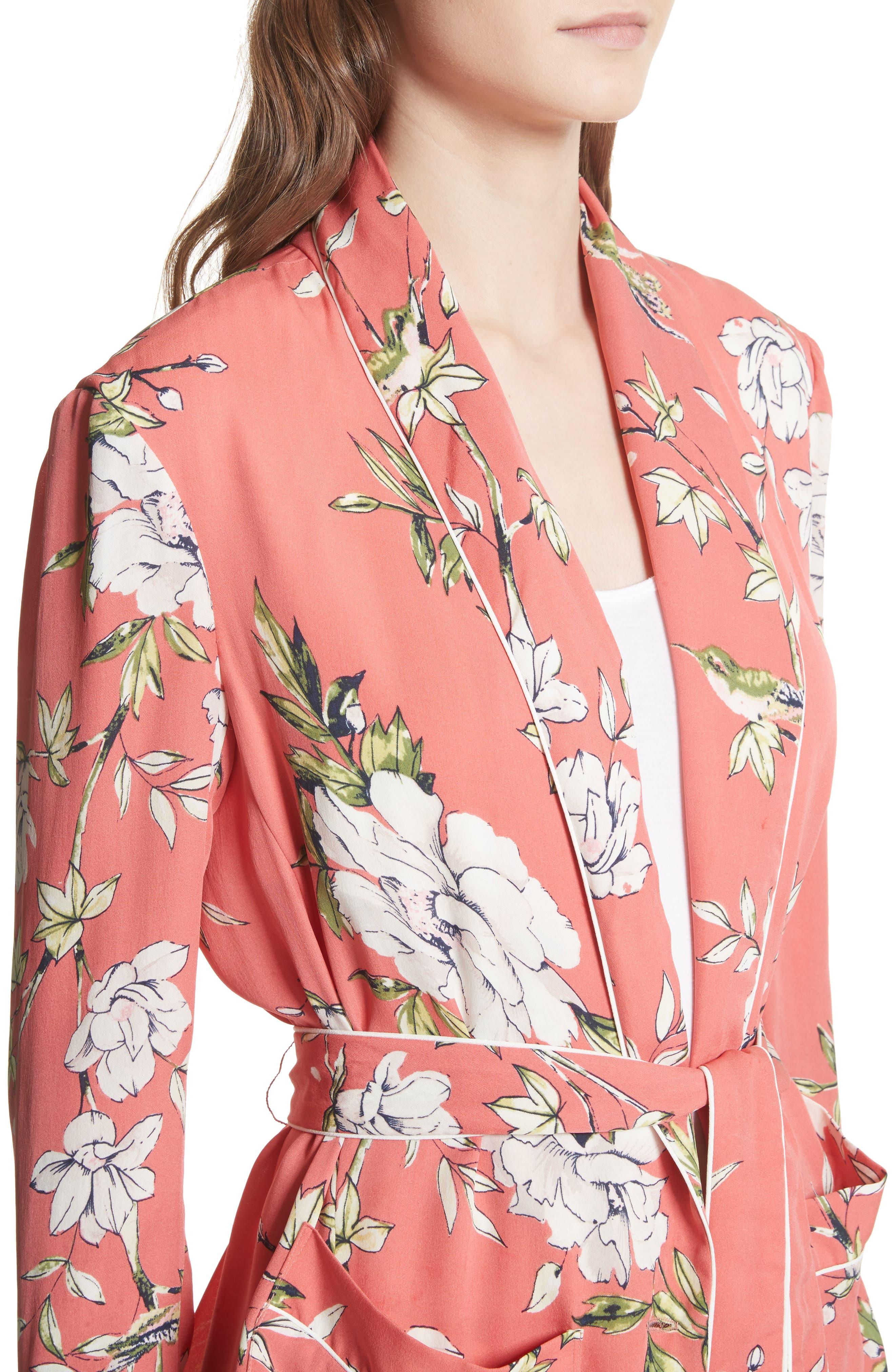 Anasophia Tie Silk Blazer,                             Alternate thumbnail 8, color,