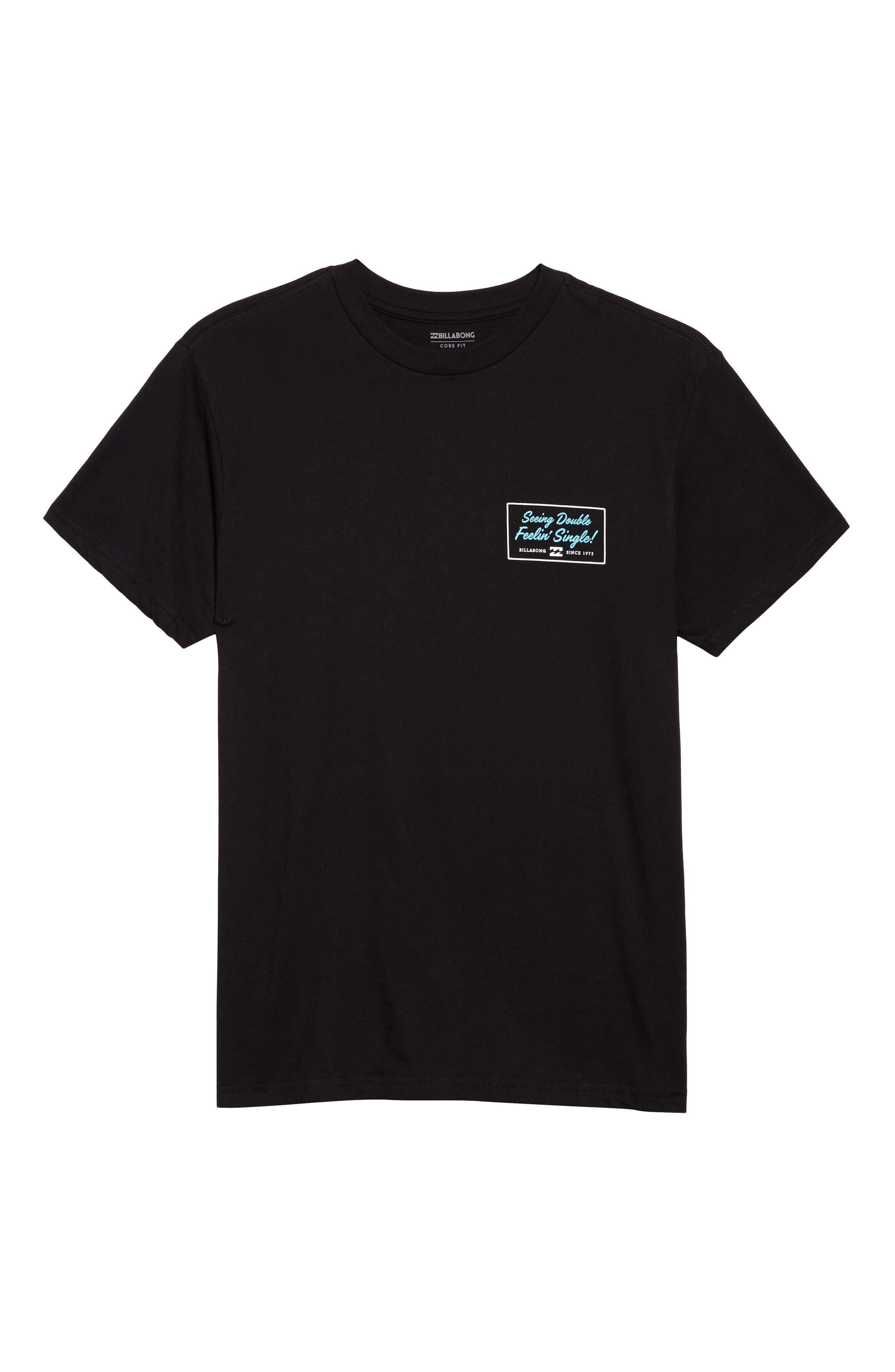Feeling Single Graphic T-Shirt,                             Alternate thumbnail 6, color,                             001