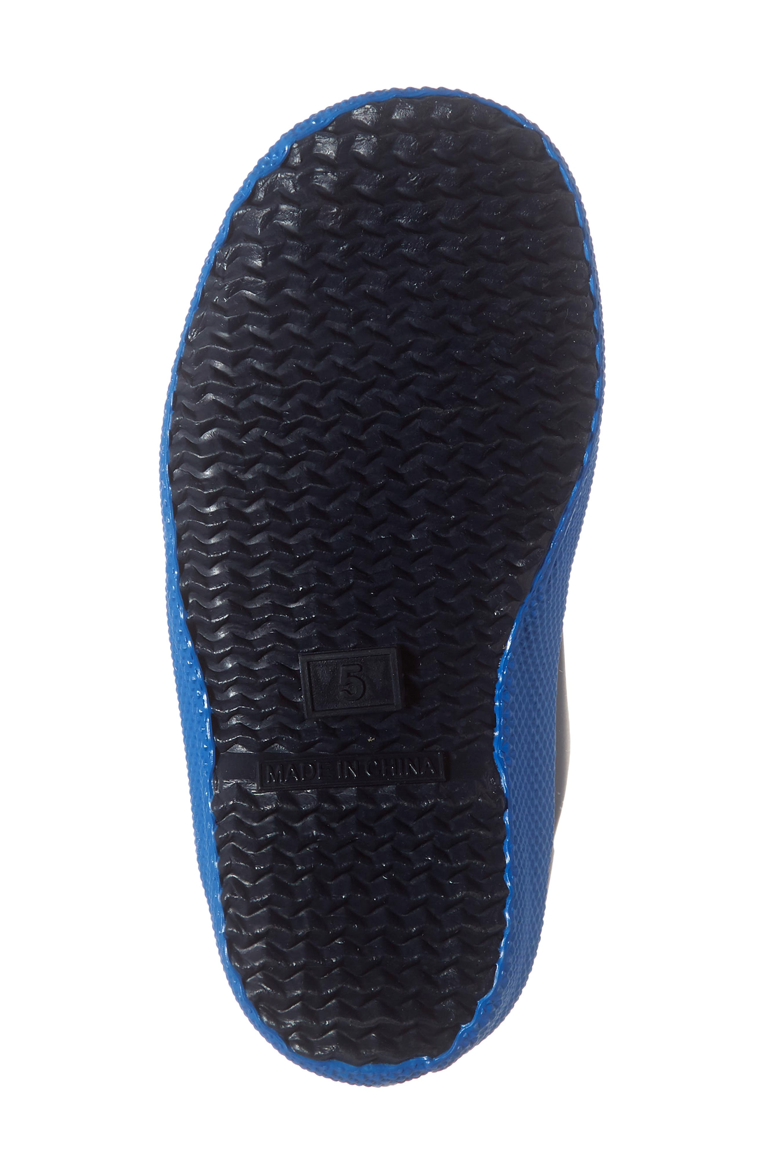 HUNTER,                             First Classic Waterproof Rain Boot,                             Alternate thumbnail 6, color,                             GULL GREY/ BUCKET BLUE/ NAVY
