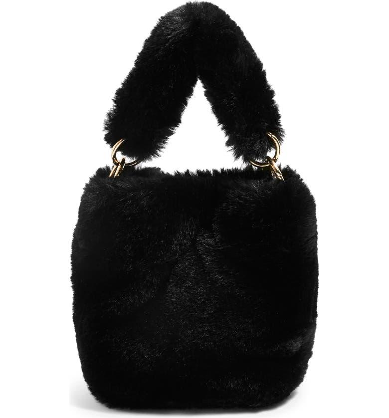 Topshop Teddy Faux Fur Bucket Bag  3620e9917a63c