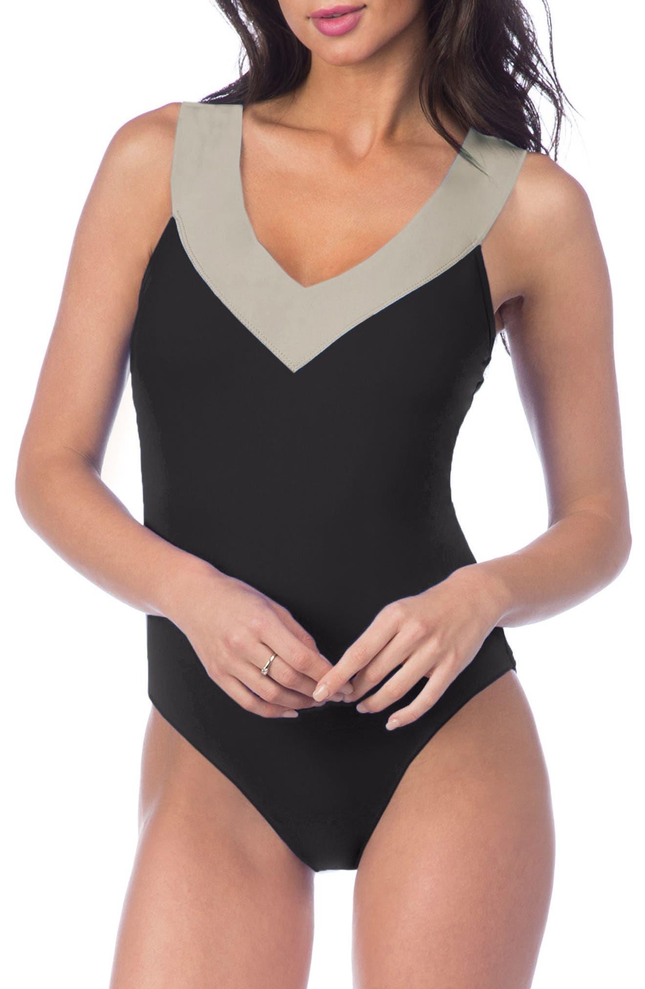Bondage Cross Back Mio Convertible One-Piece Swimsuit,                         Main,                         color,
