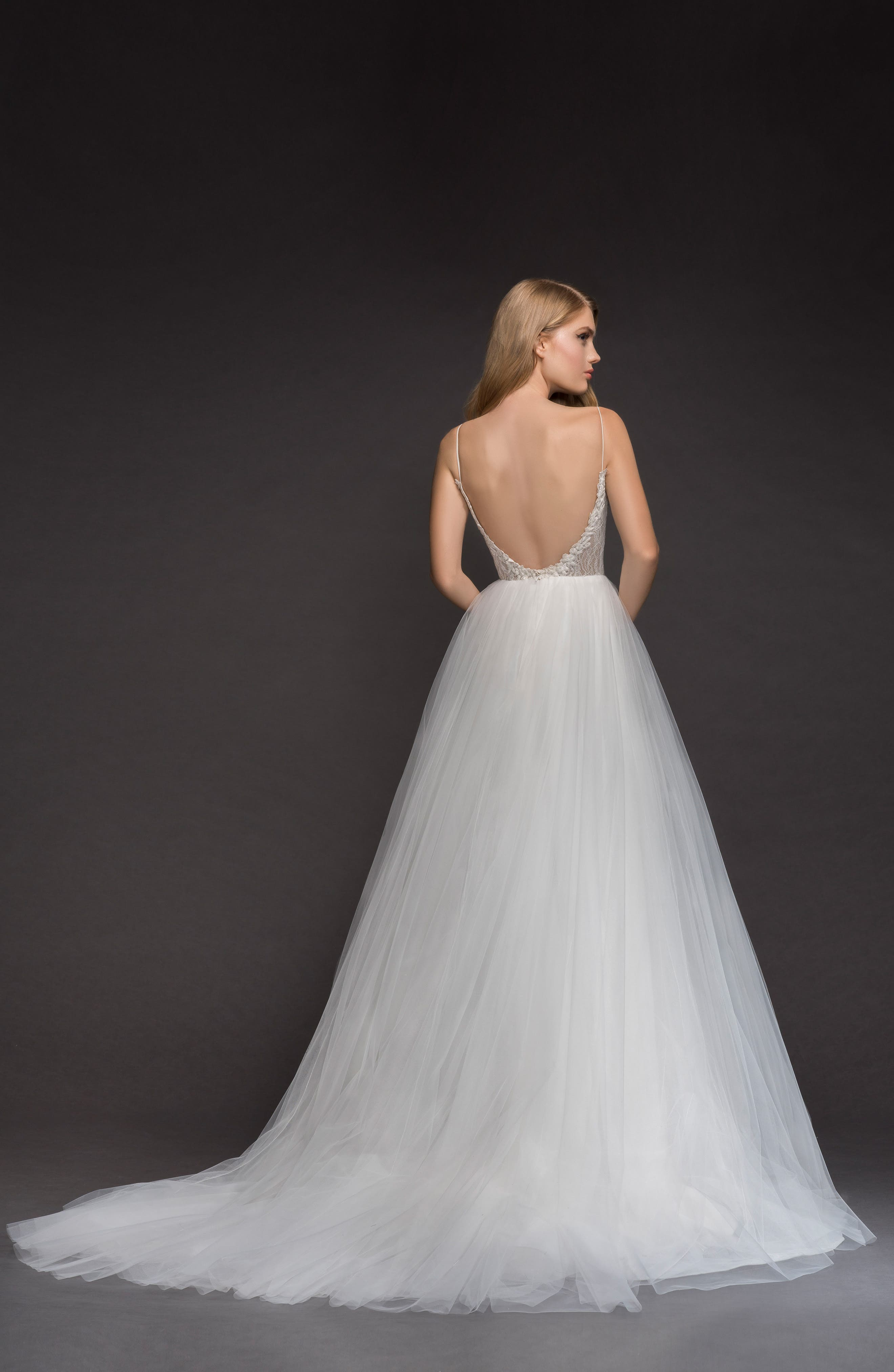 Brier Lace & Tulle Ballgown,                             Alternate thumbnail 2, color,                             IVORY