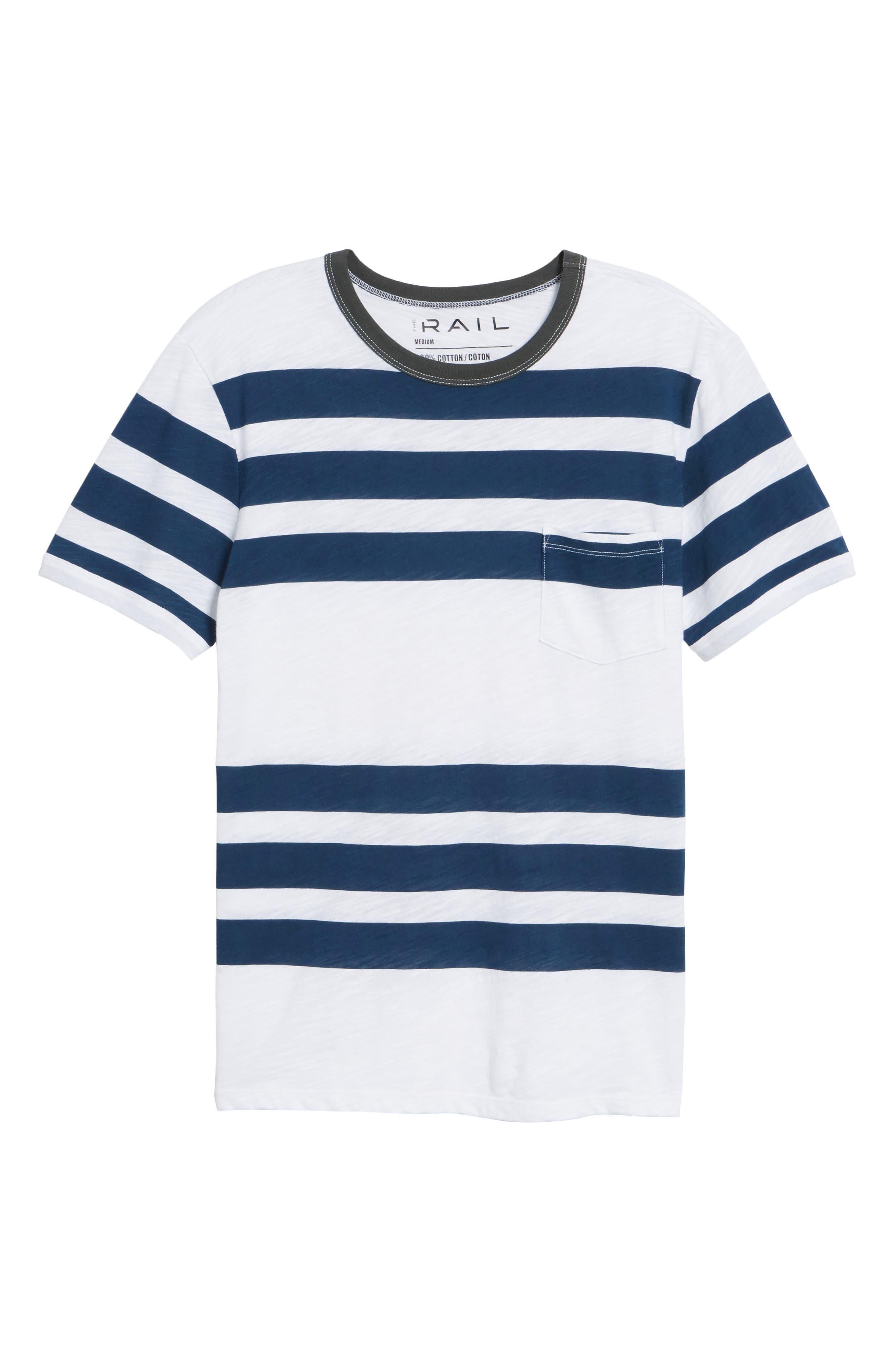 Slub Stripe Ringer T-Shirt,                             Alternate thumbnail 6, color,                             420