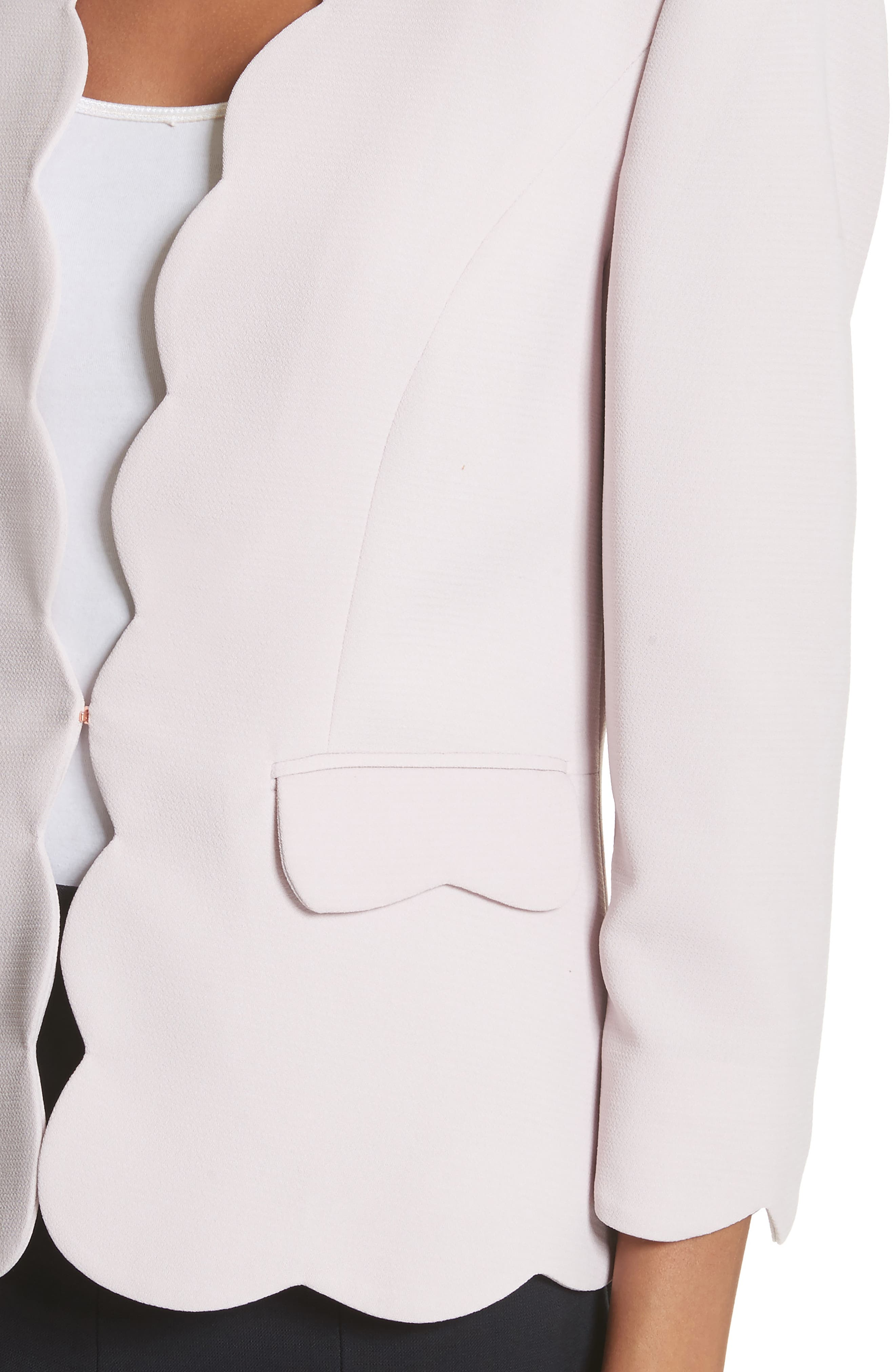 Scalloped Blazer,                             Alternate thumbnail 8, color,