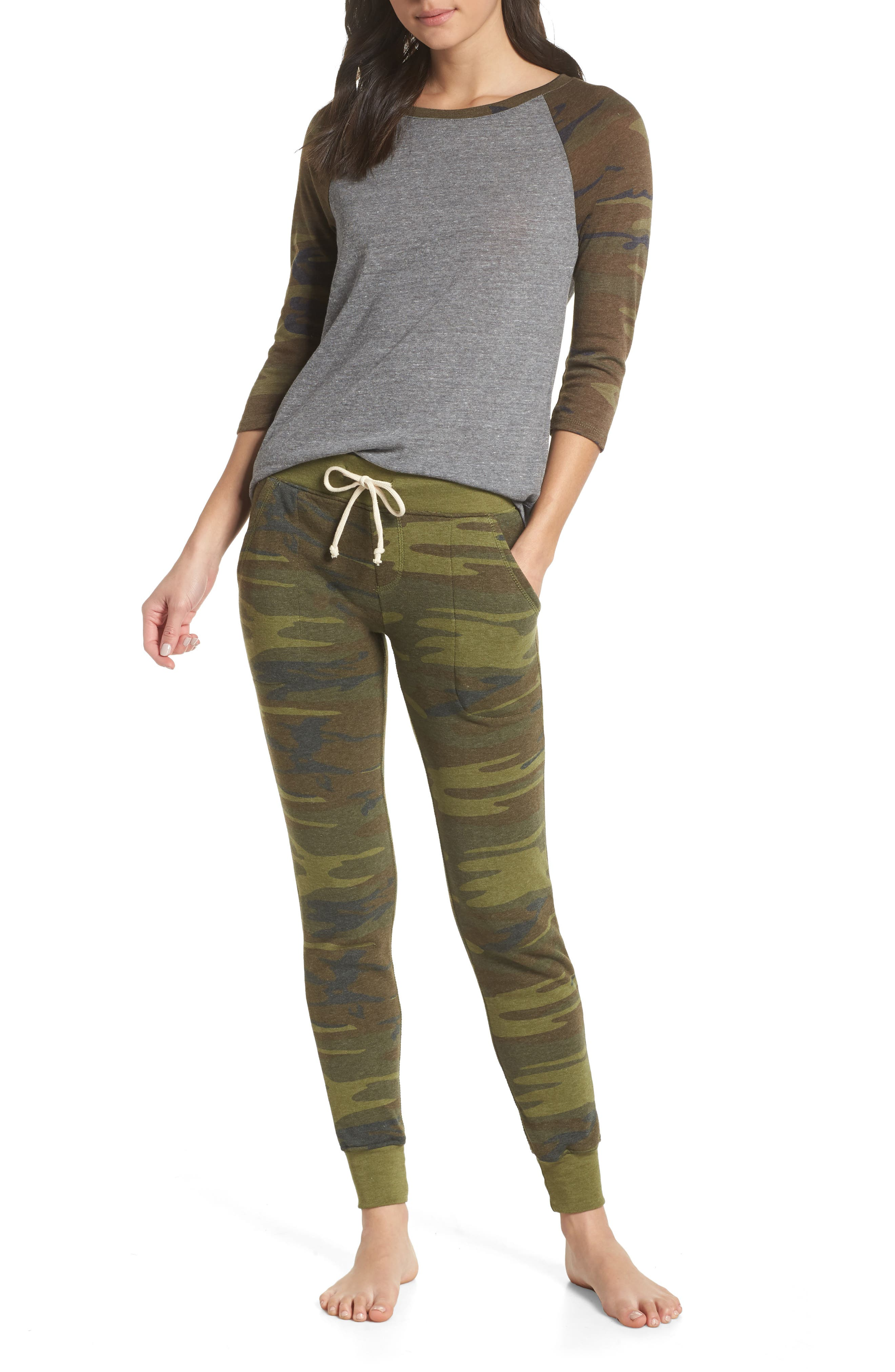 Alternative Baseball Eco Jersey Top & Sweatpants, Grey