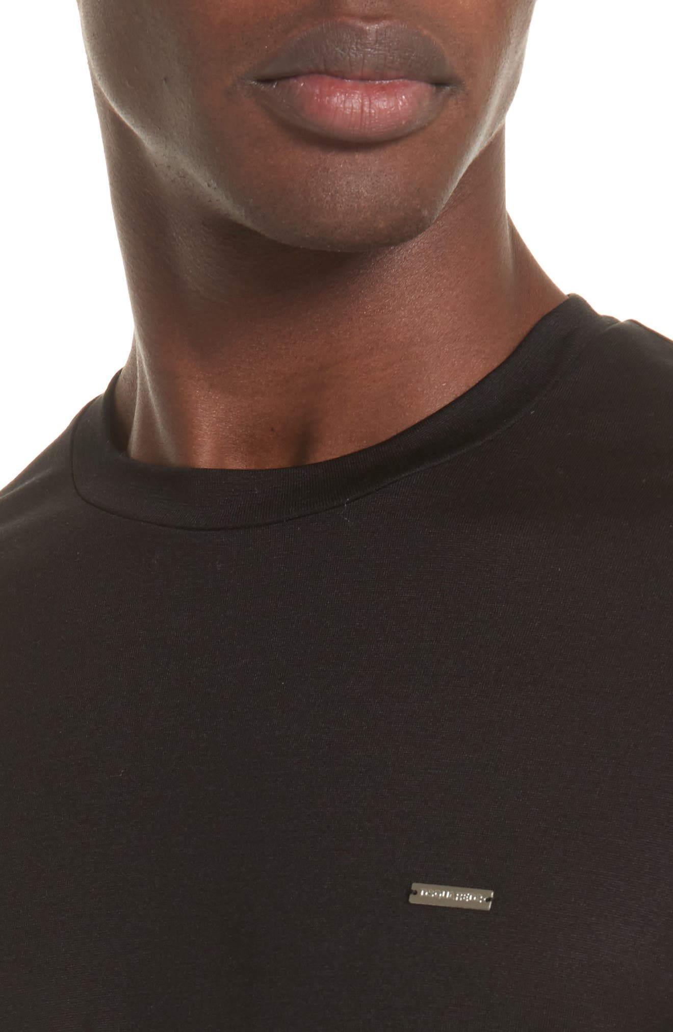 Silk Jersey T-Shirt,                             Alternate thumbnail 4, color,                             001