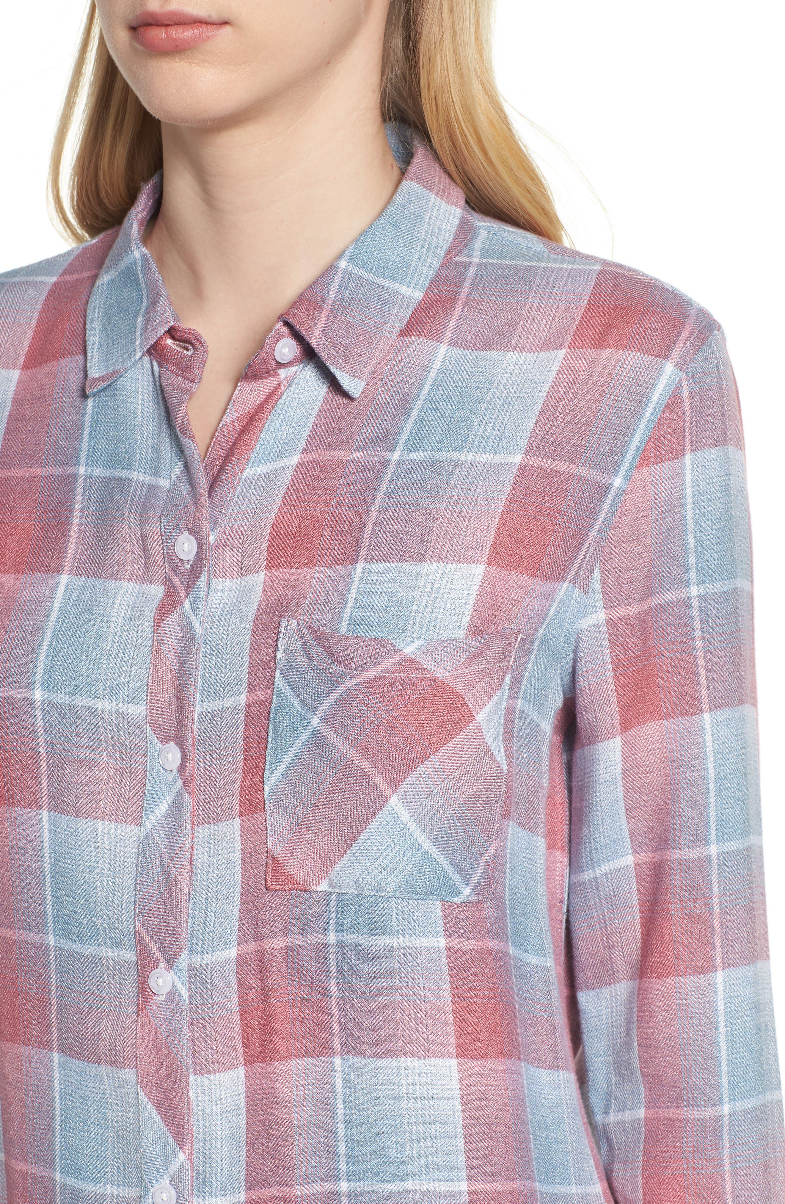 Hunter Plaid Shirt,                             Alternate thumbnail 494, color,