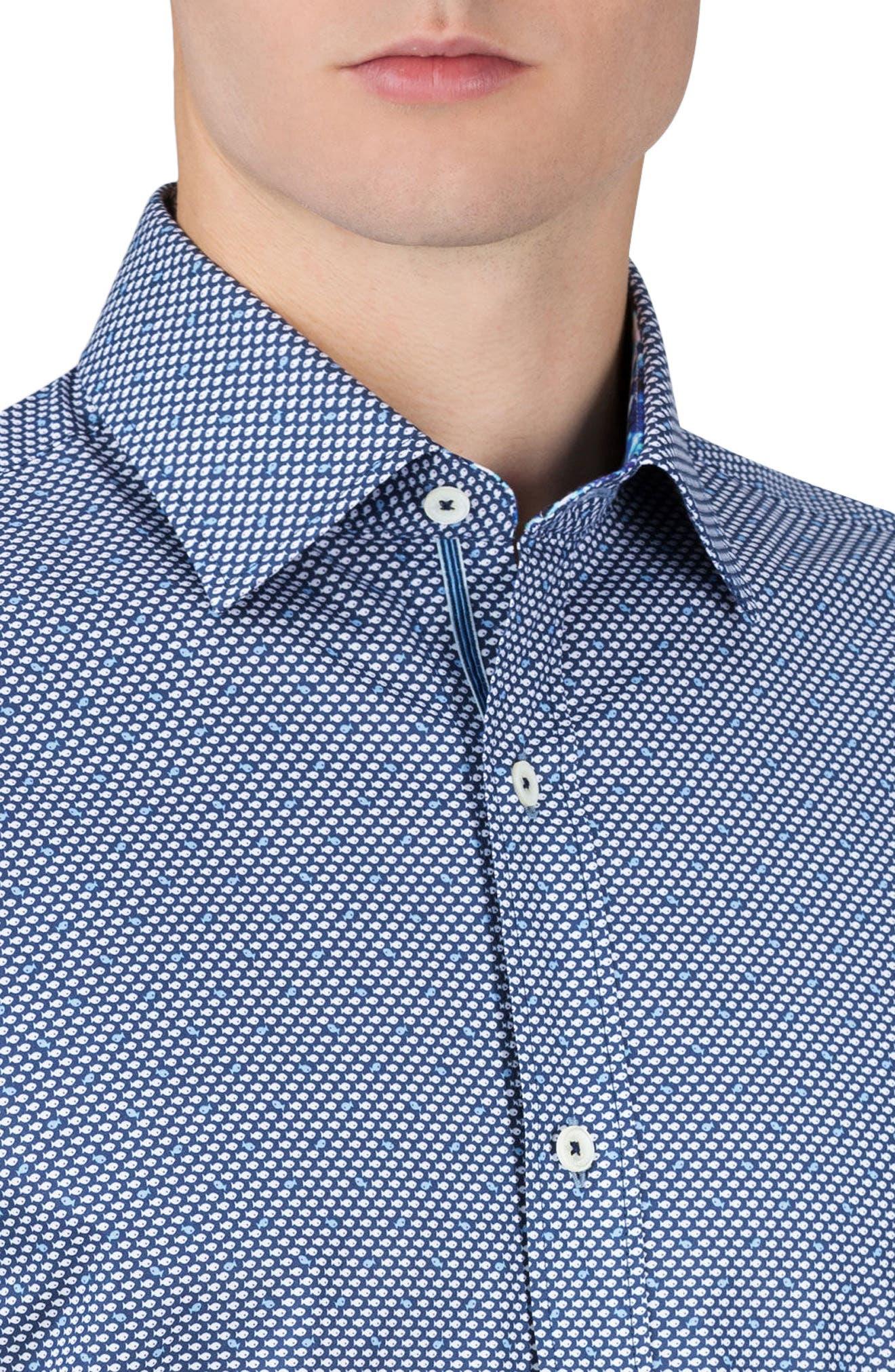 Shaped Fit Sport Shirt,                             Alternate thumbnail 3, color,                             411