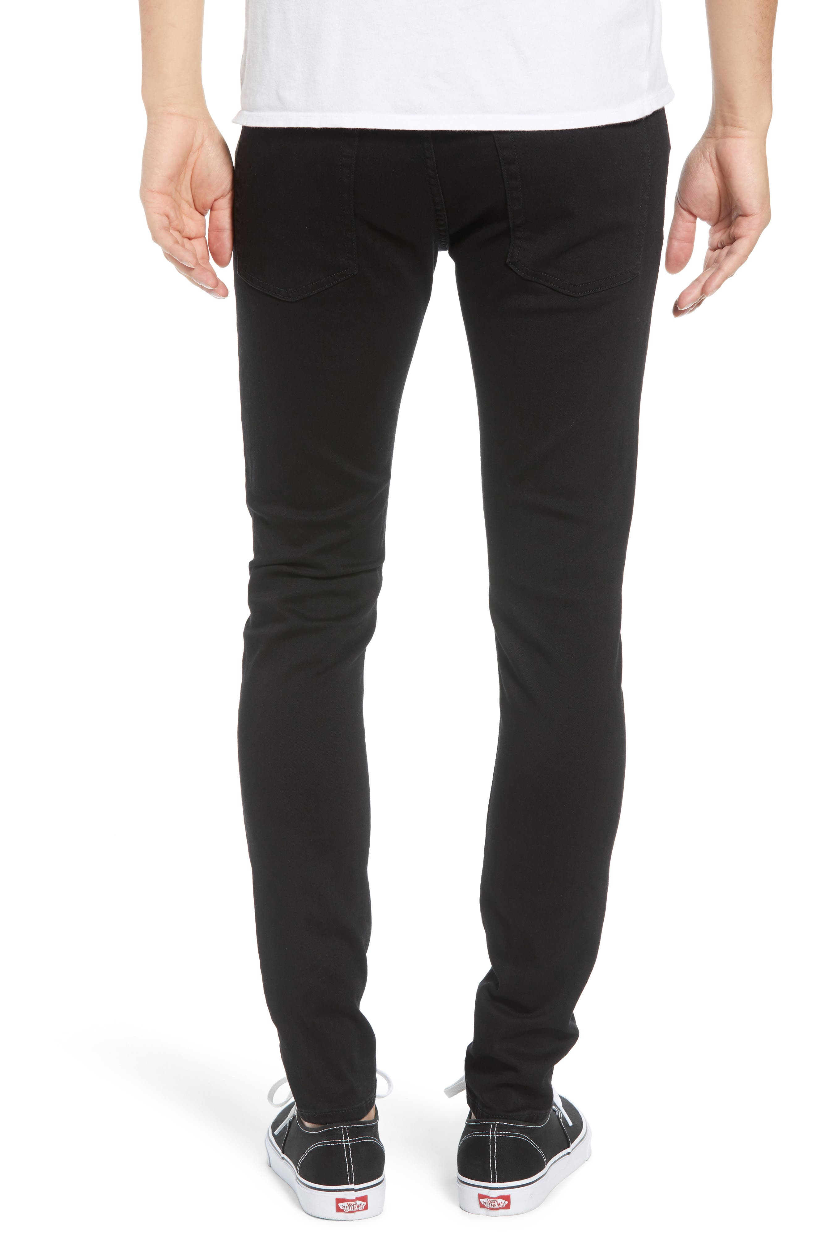 Destroyer Ripped Slim Fit Jeans,                             Alternate thumbnail 2, color,                             BLACK
