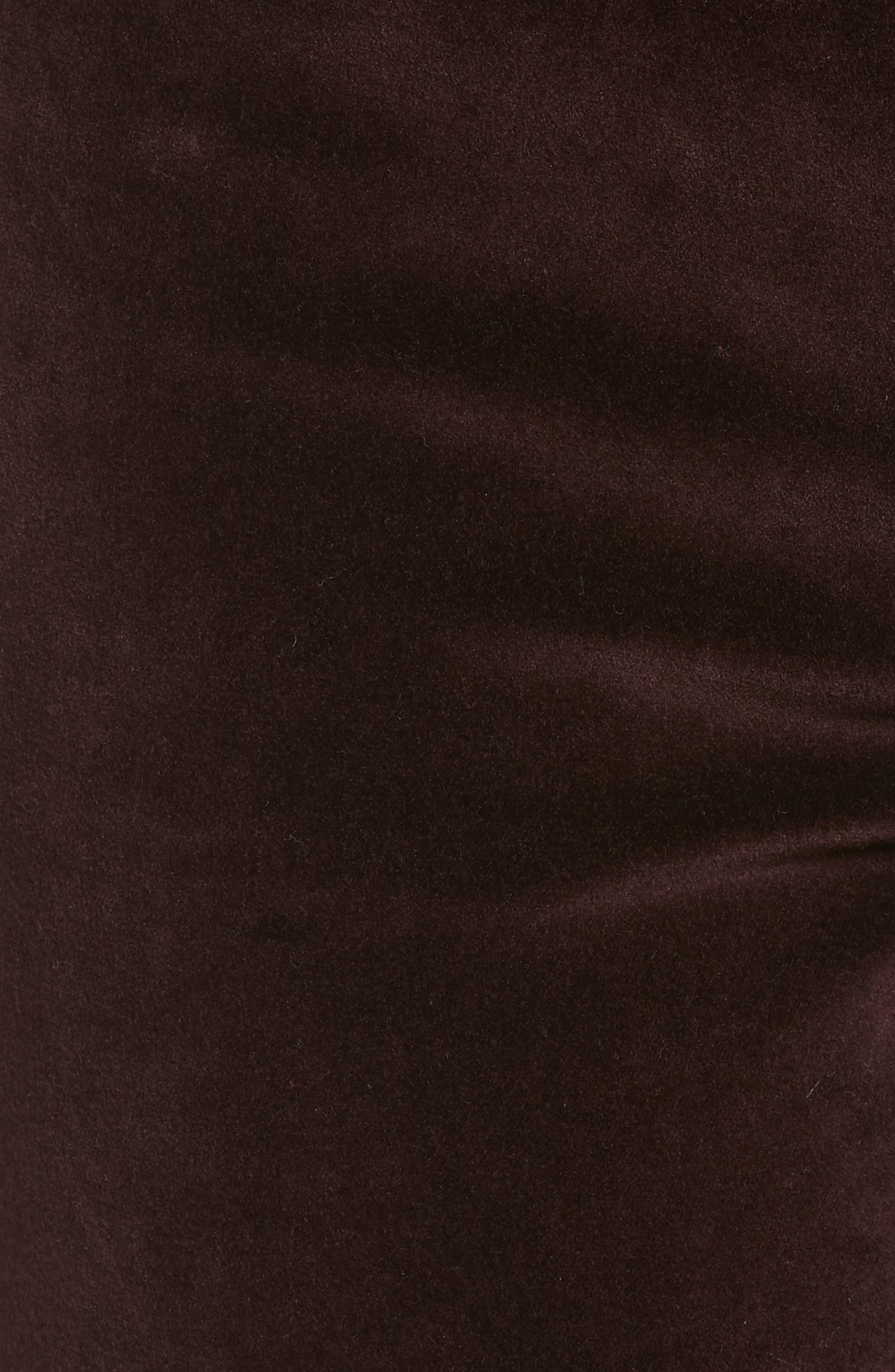 Margaux Instasculpt Ankle Skinny Velvet Pants,                             Alternate thumbnail 6, color,                             DARK PURPLE