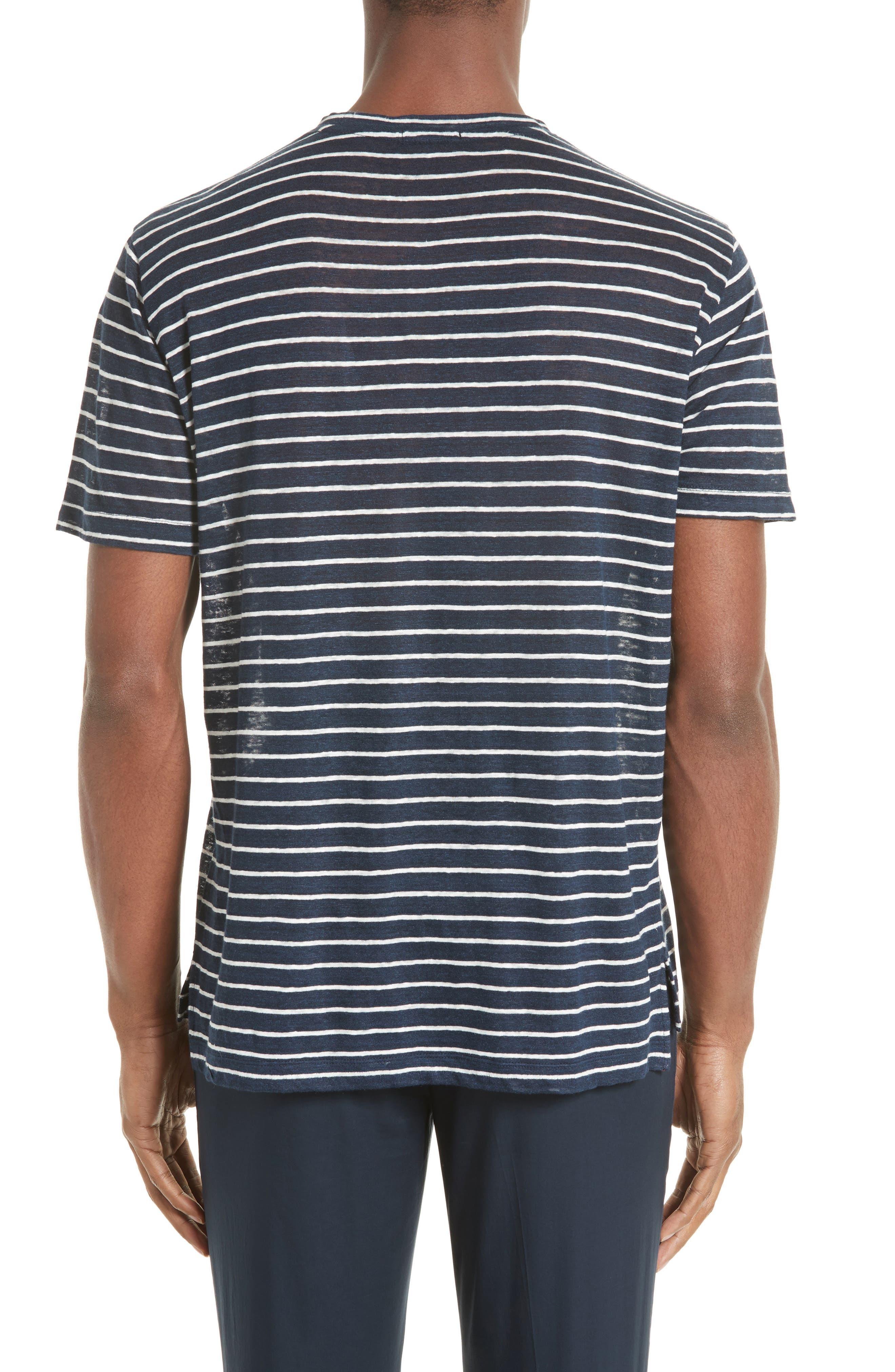 Stripe Linen Jersey T-Shirt,                         Main,                         color, 401