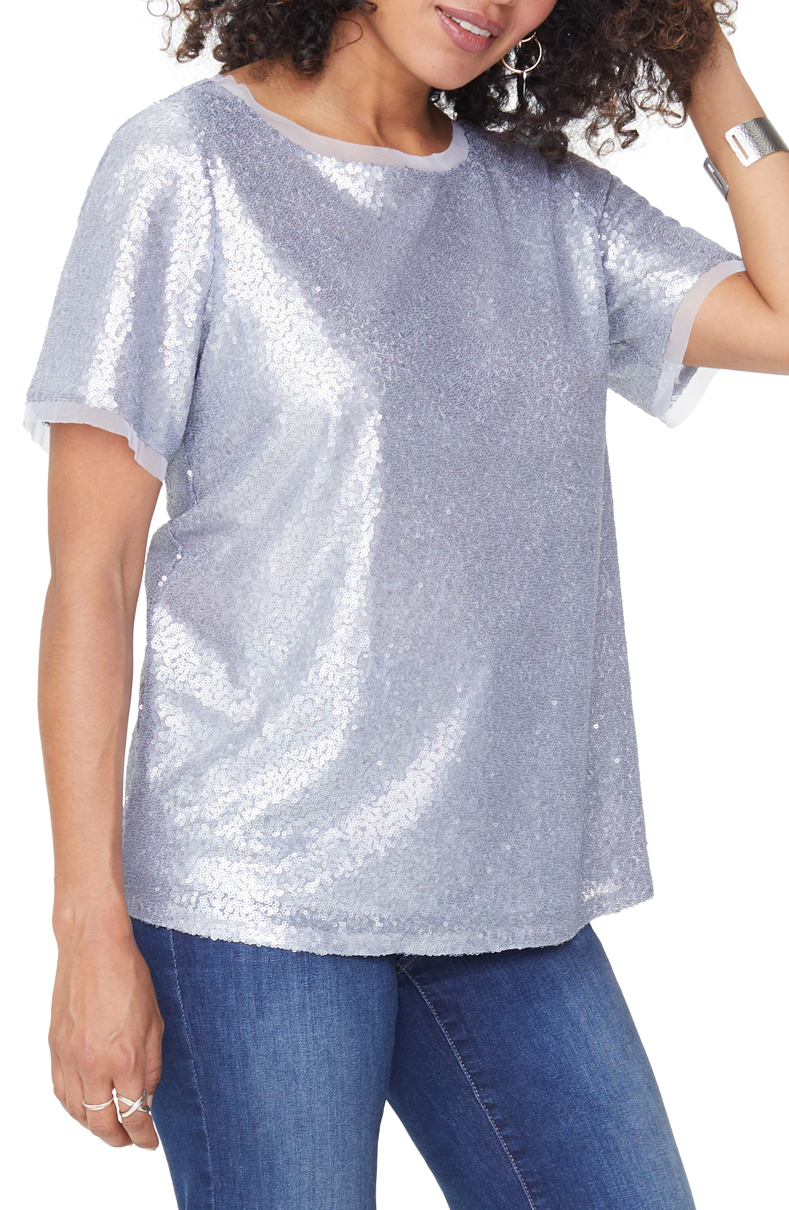 Sequin Woven Top,                         Main,                         color, 041