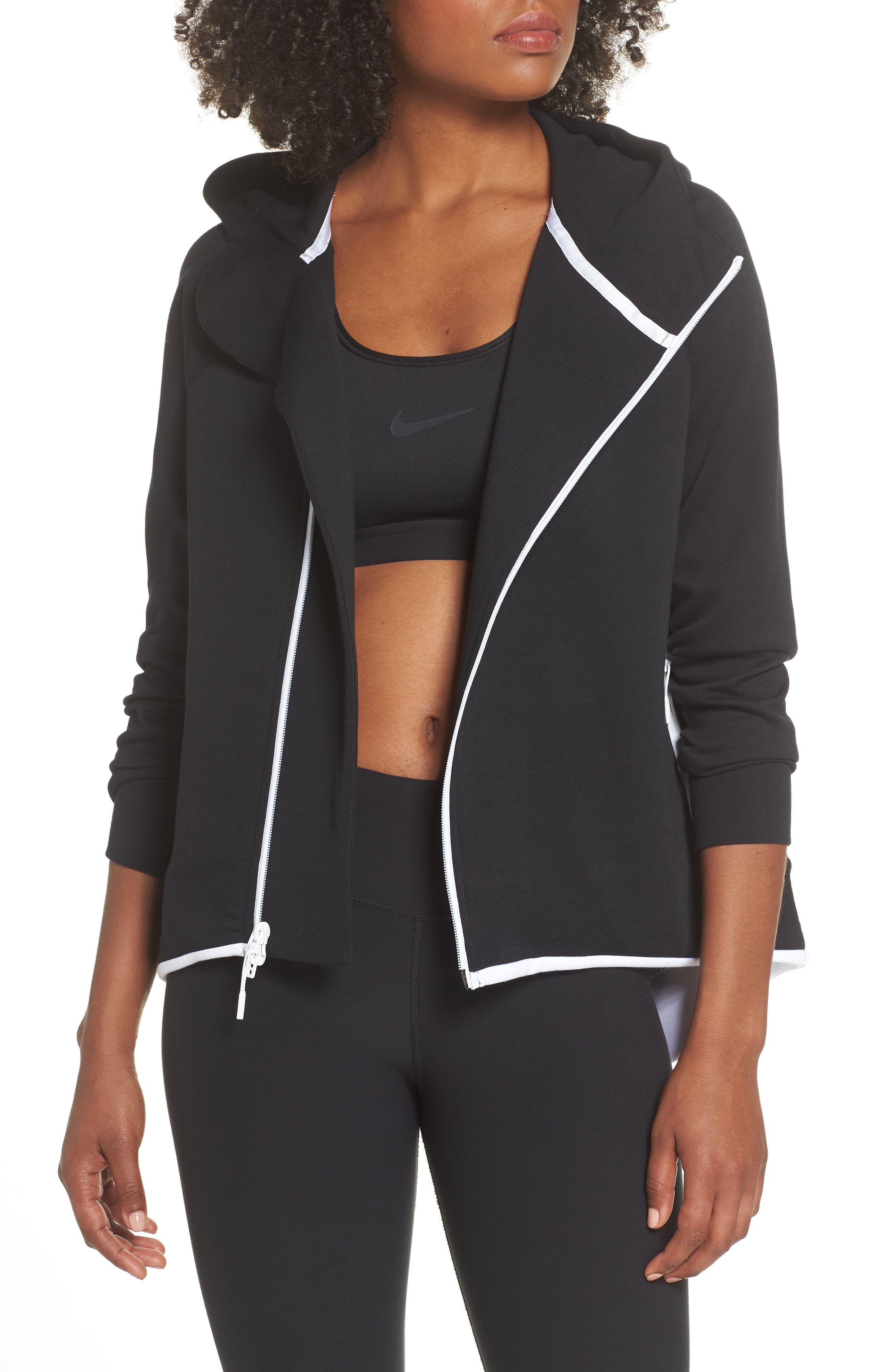 Sportswear Tech Fleece Cape Jacket,                             Main thumbnail 1, color,                             BLACK/ WHITE