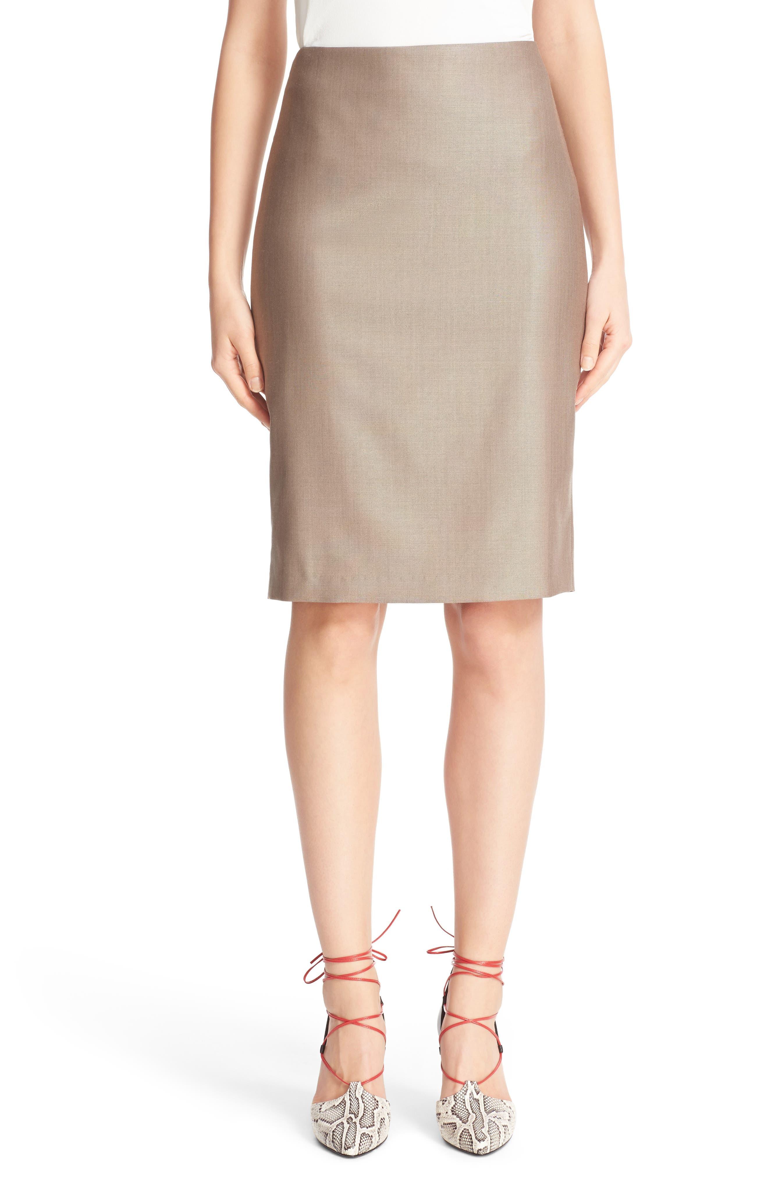 Wool Blend Pencil Skirt,                             Alternate thumbnail 2, color,                             220