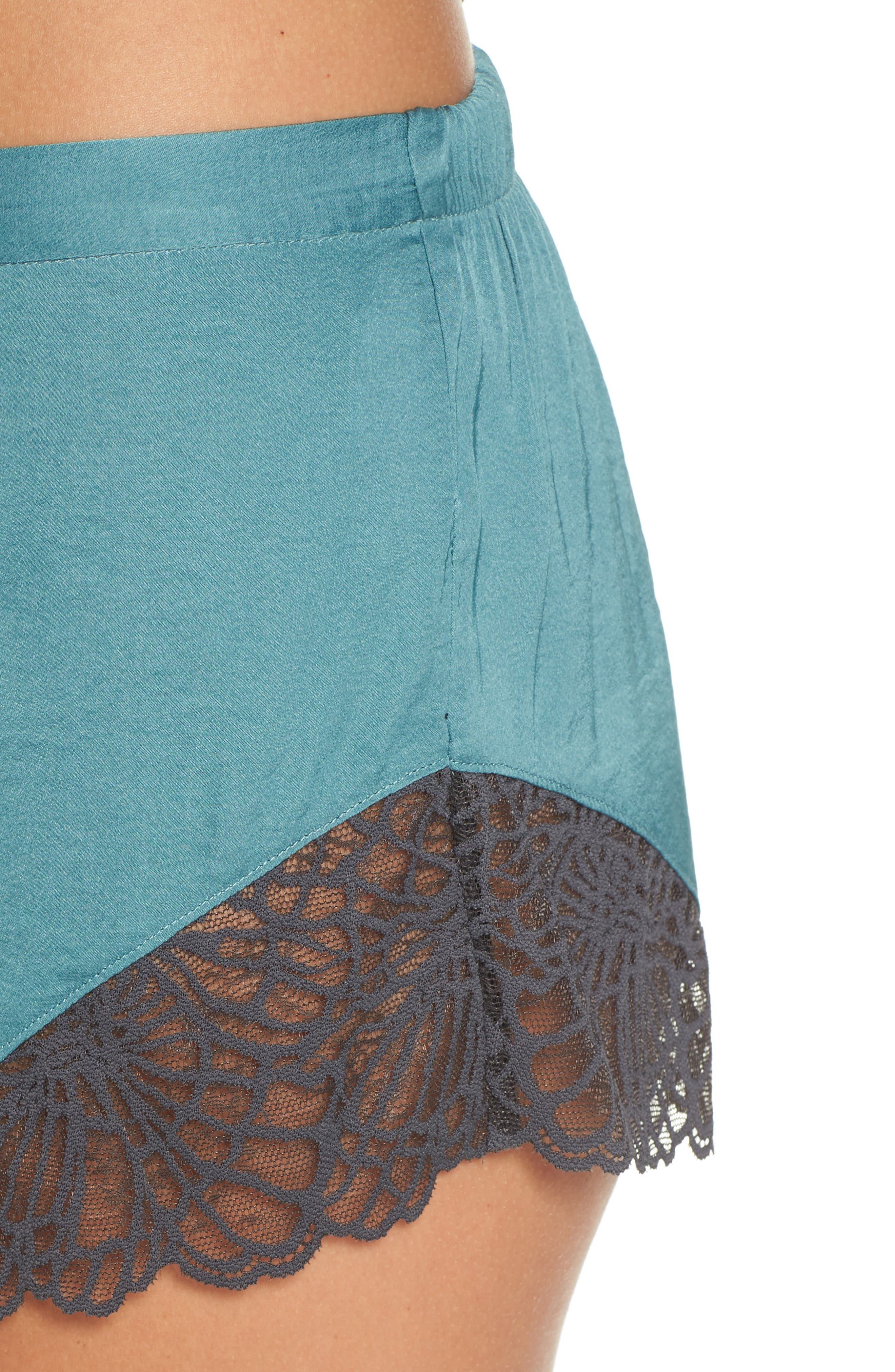 Colette Camisole & Short Pajamas,                             Alternate thumbnail 4, color,                             DUSTY JADE