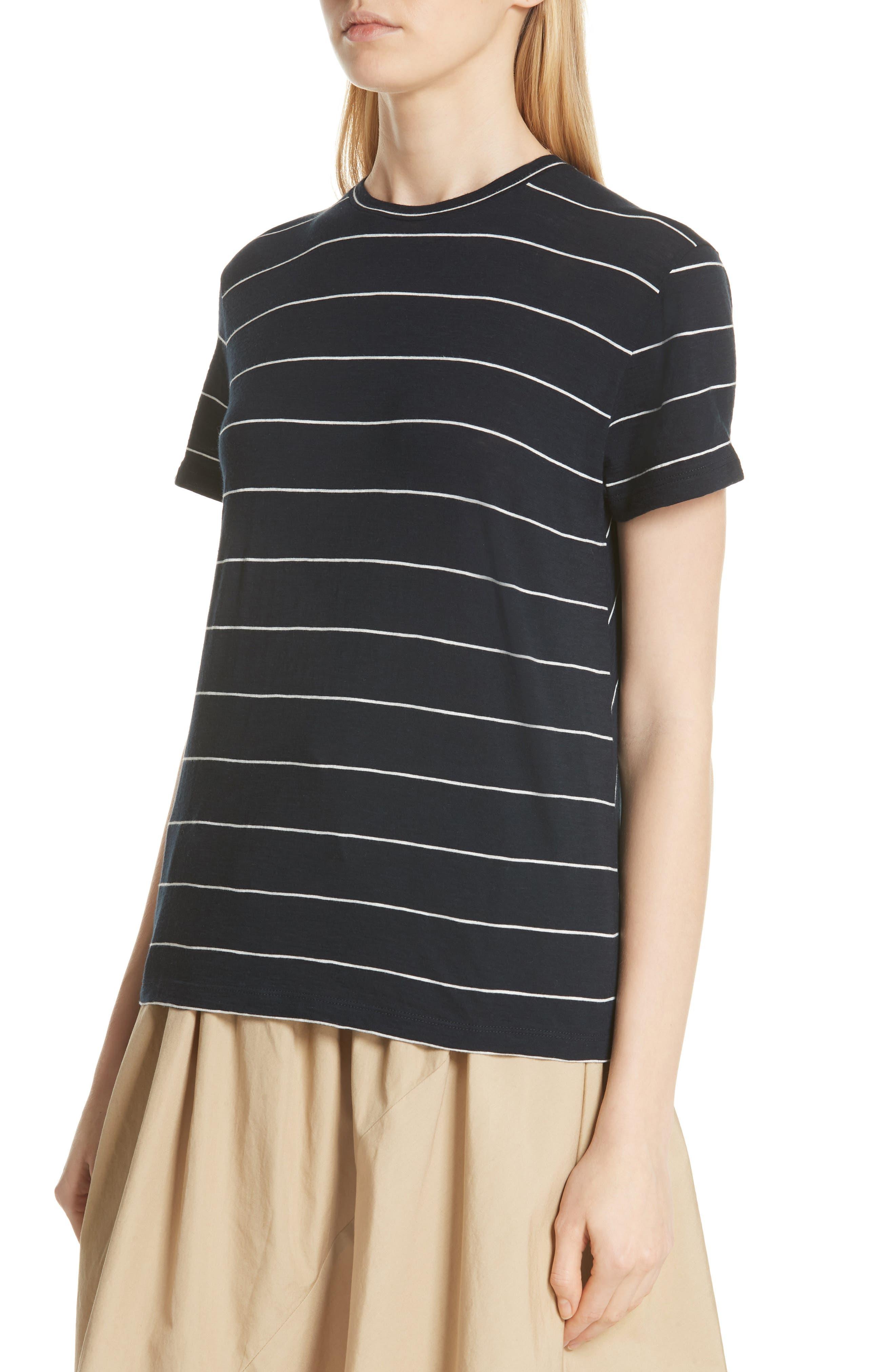 Skinny Stripe Pima Cotton Top,                             Alternate thumbnail 8, color,