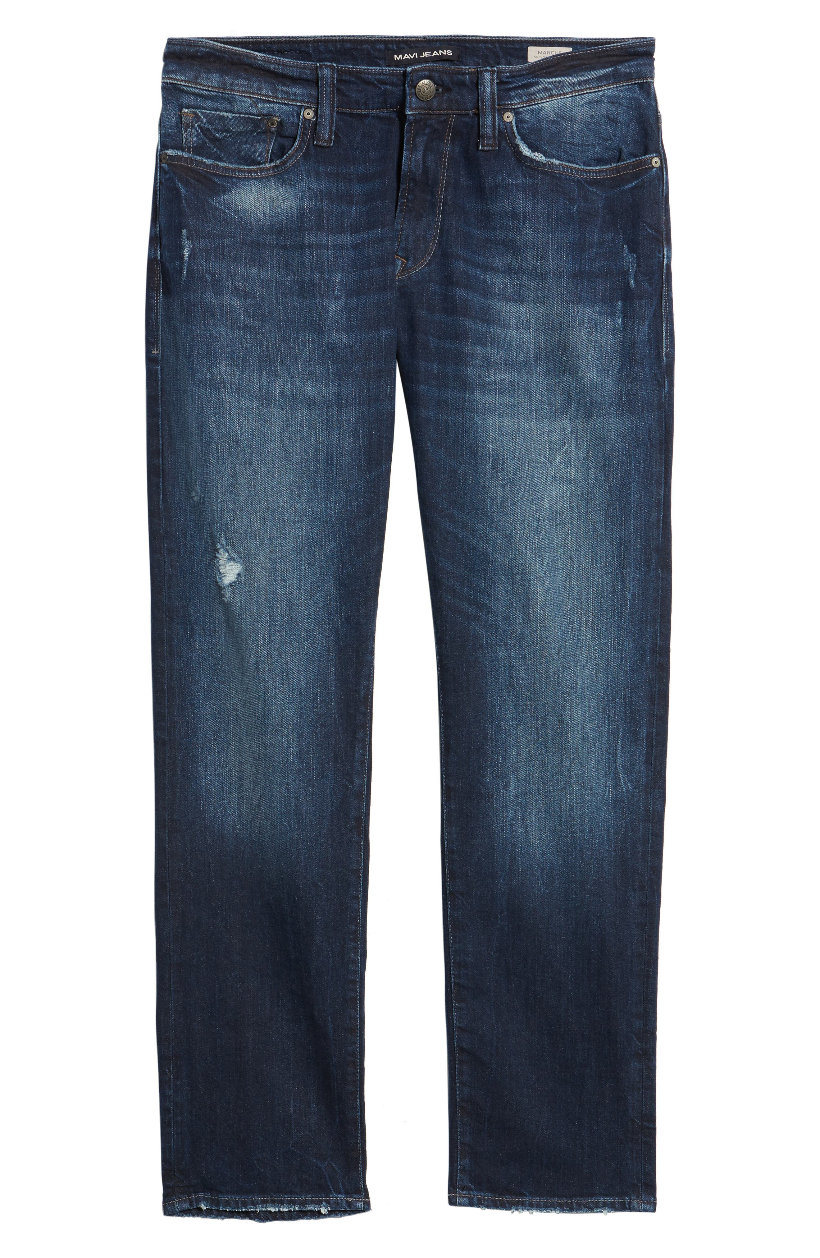 Marcus Slim Straight Leg Jeans,                             Alternate thumbnail 6, color,                             401