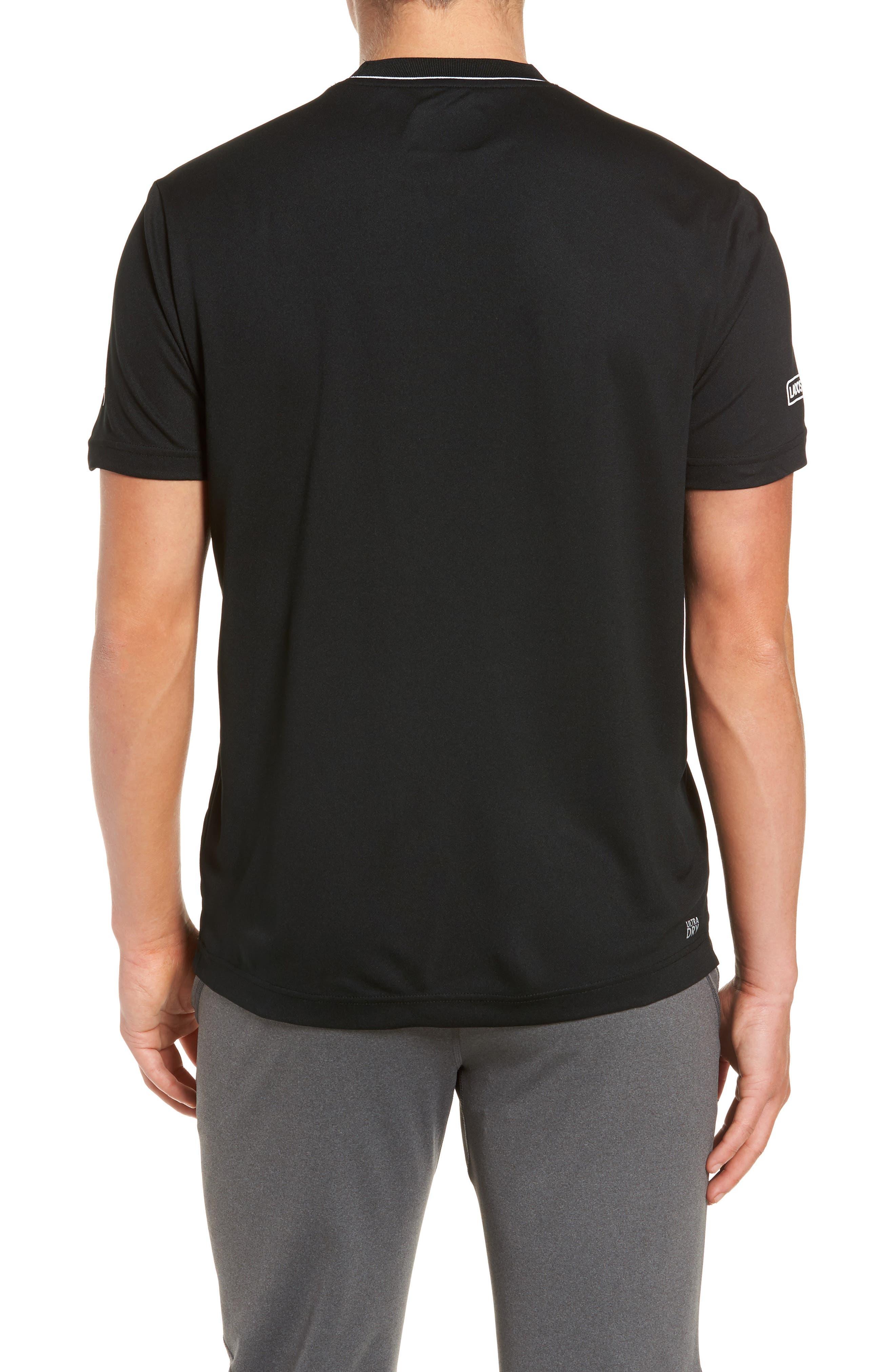 Piqué T-Shirt,                             Alternate thumbnail 2, color,                             BLACK/ MARINO/ WHITE